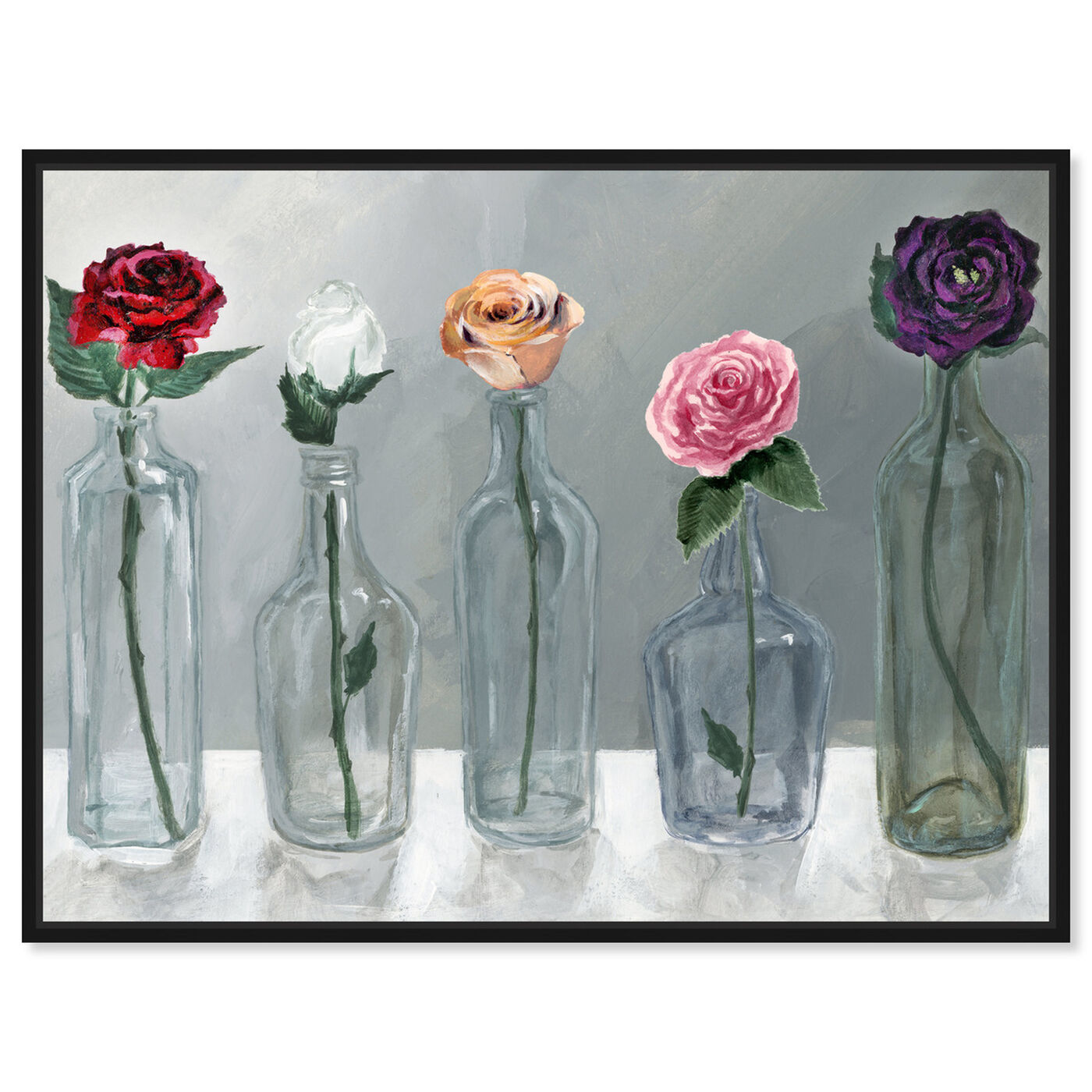 Front view of Bottled Flowers featuring floral and botanical and florals art.