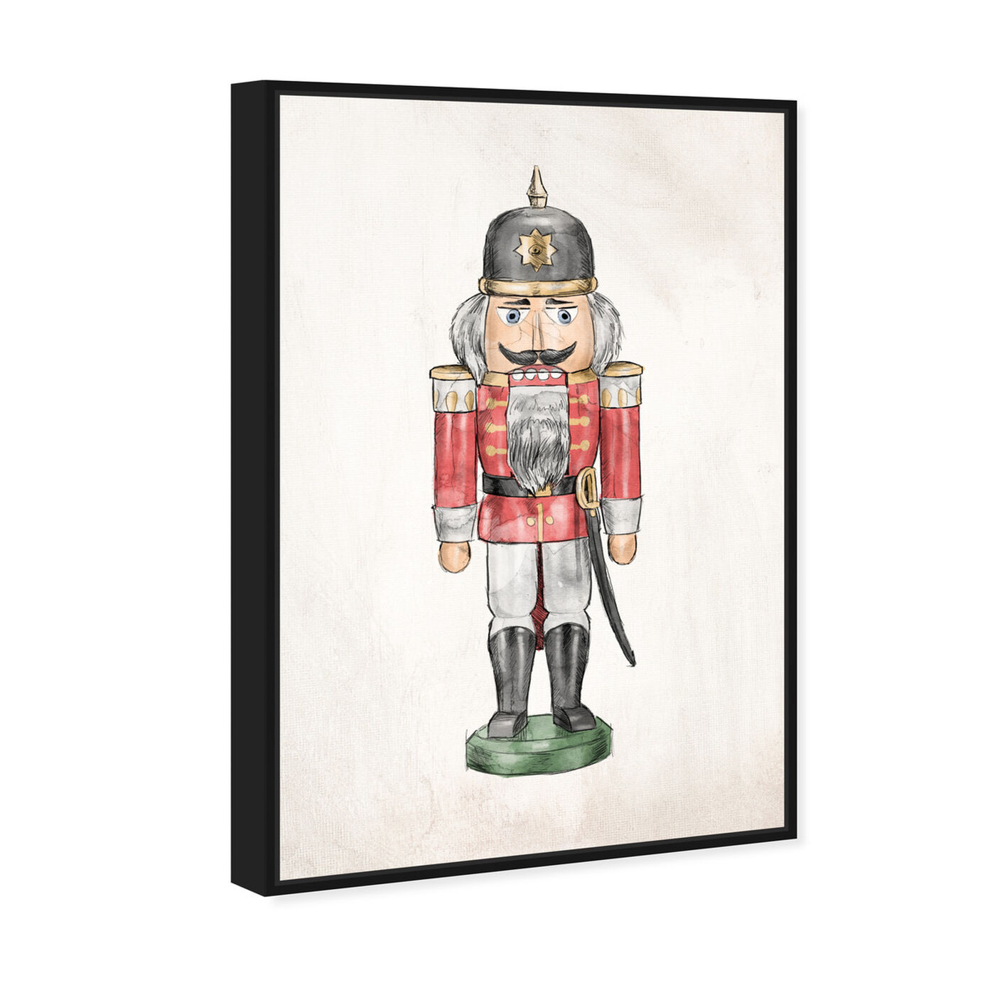 Angled view of Nutcracker IV featuring holiday and seasonal and holidays art.