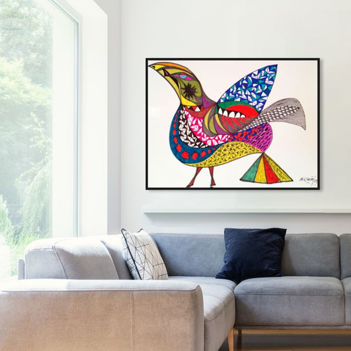 Hanging view of Bird featuring animals and birds art.