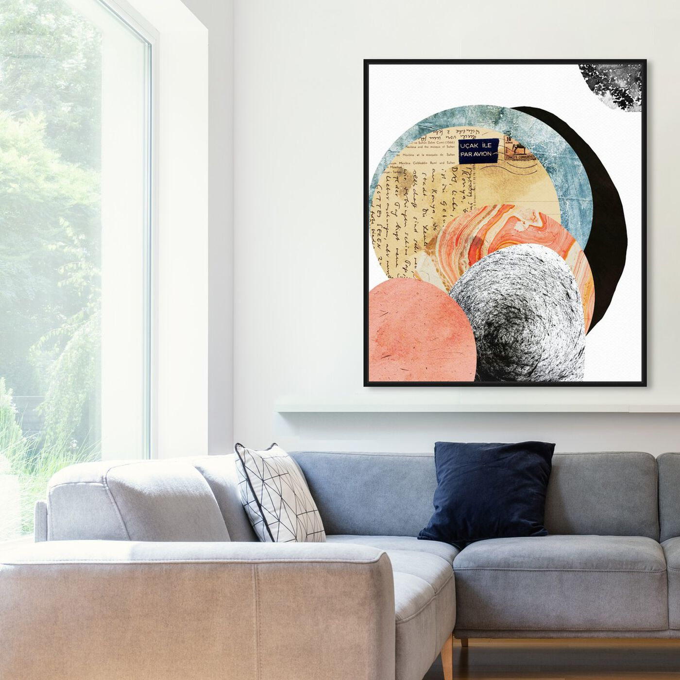 Hanging view of Letters to the Moon featuring abstract and textures art.
