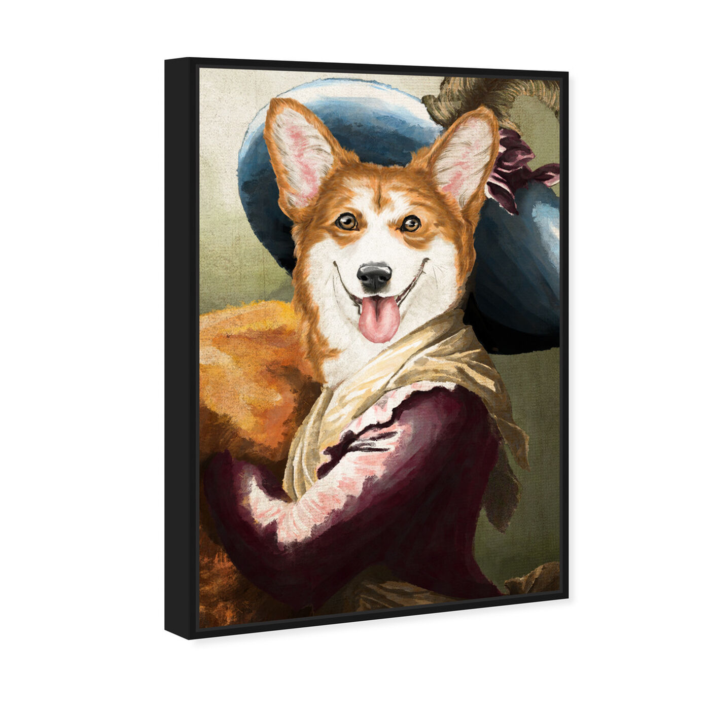 Angled view of Elegant Corgi featuring animals and dogs and puppies art.