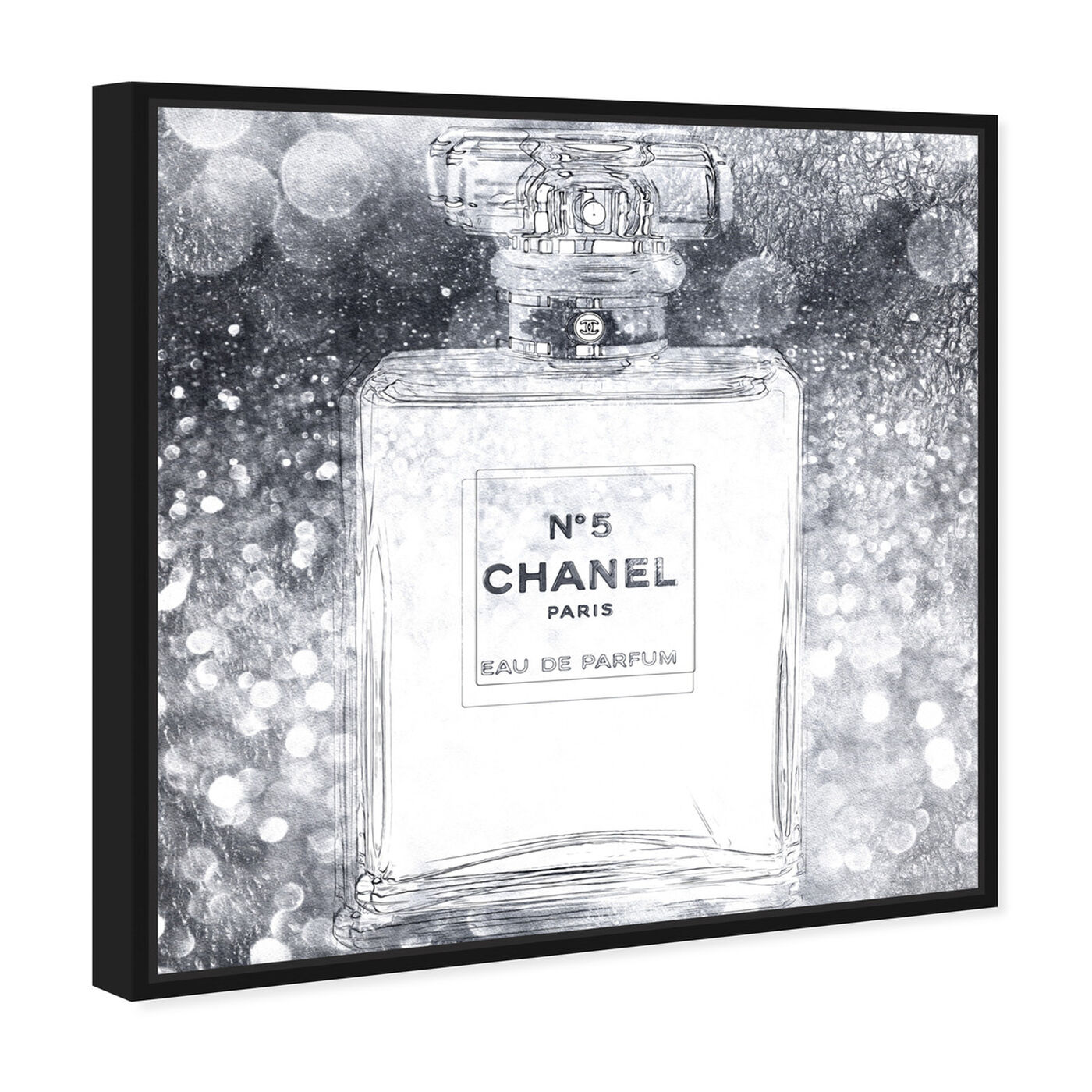 Angled view of Basenote is Silver featuring fashion and glam and perfumes art.