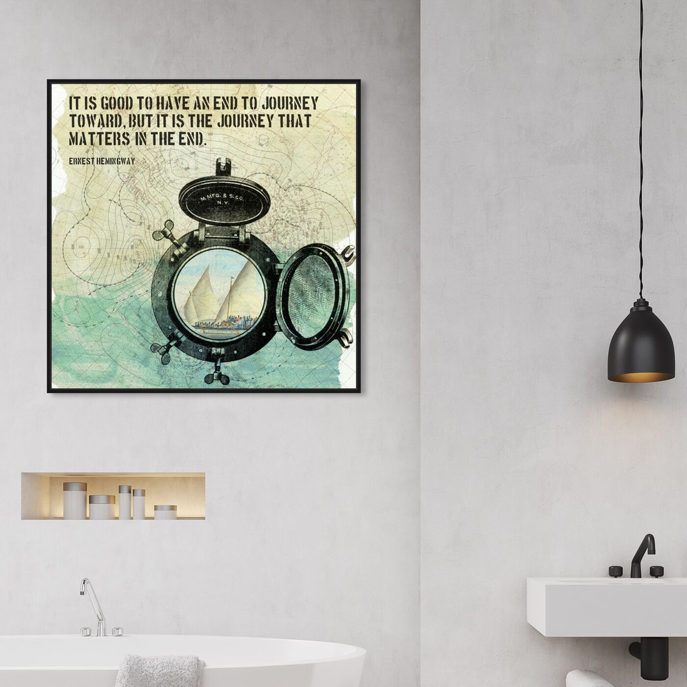 Hanging view of The Journey featuring typography and quotes and inspirational quotes and sayings art.