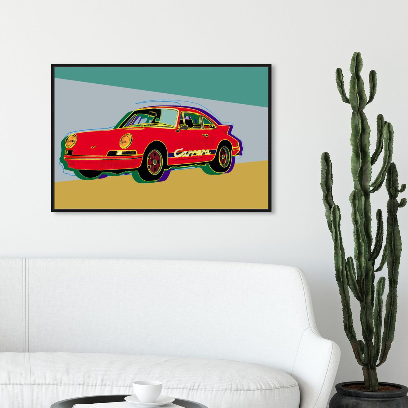 Hanging view of Red Rocket featuring transportation and automobiles art.