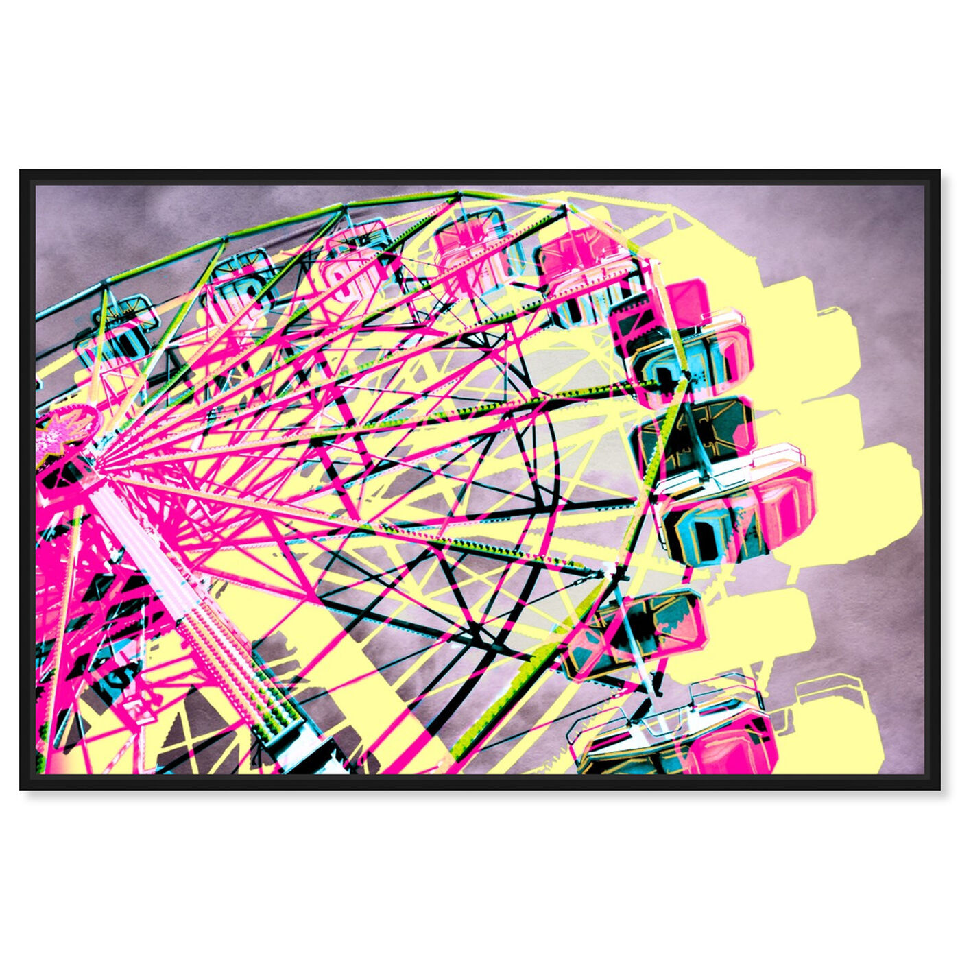 Front view of Ferris Wheel featuring entertainment and hobbies and fairs art.