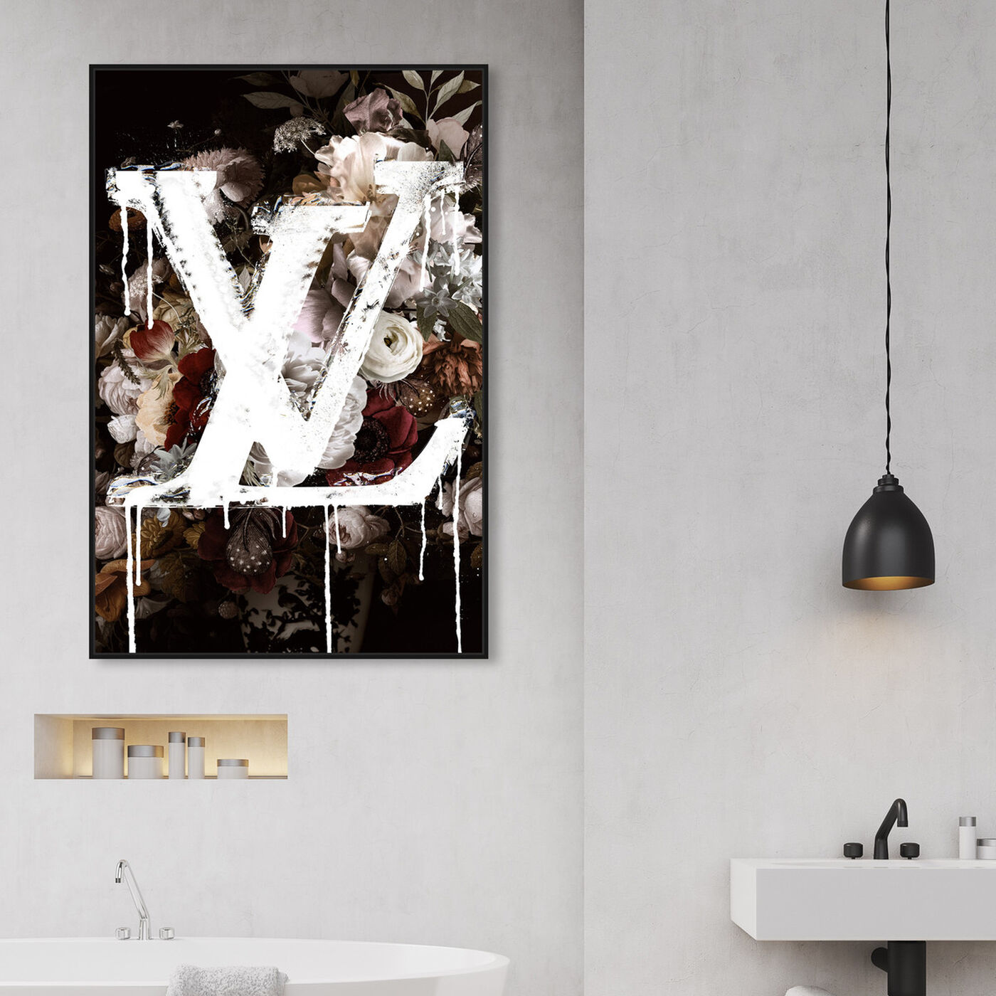 Hanging view of A King in Full Bloom featuring fashion and glam and lifestyle art.