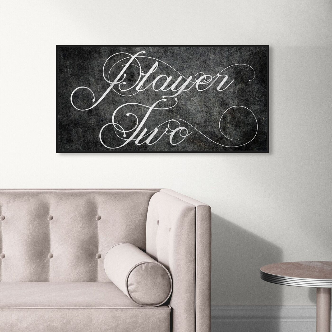 Hanging view of Player Two featuring typography and quotes and quotes and sayings art.