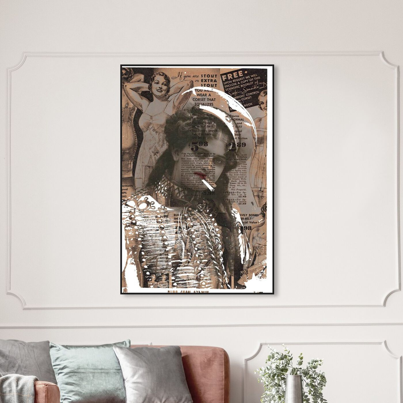 Hanging view of Miss Jean Aylwin featuring advertising and publications art.