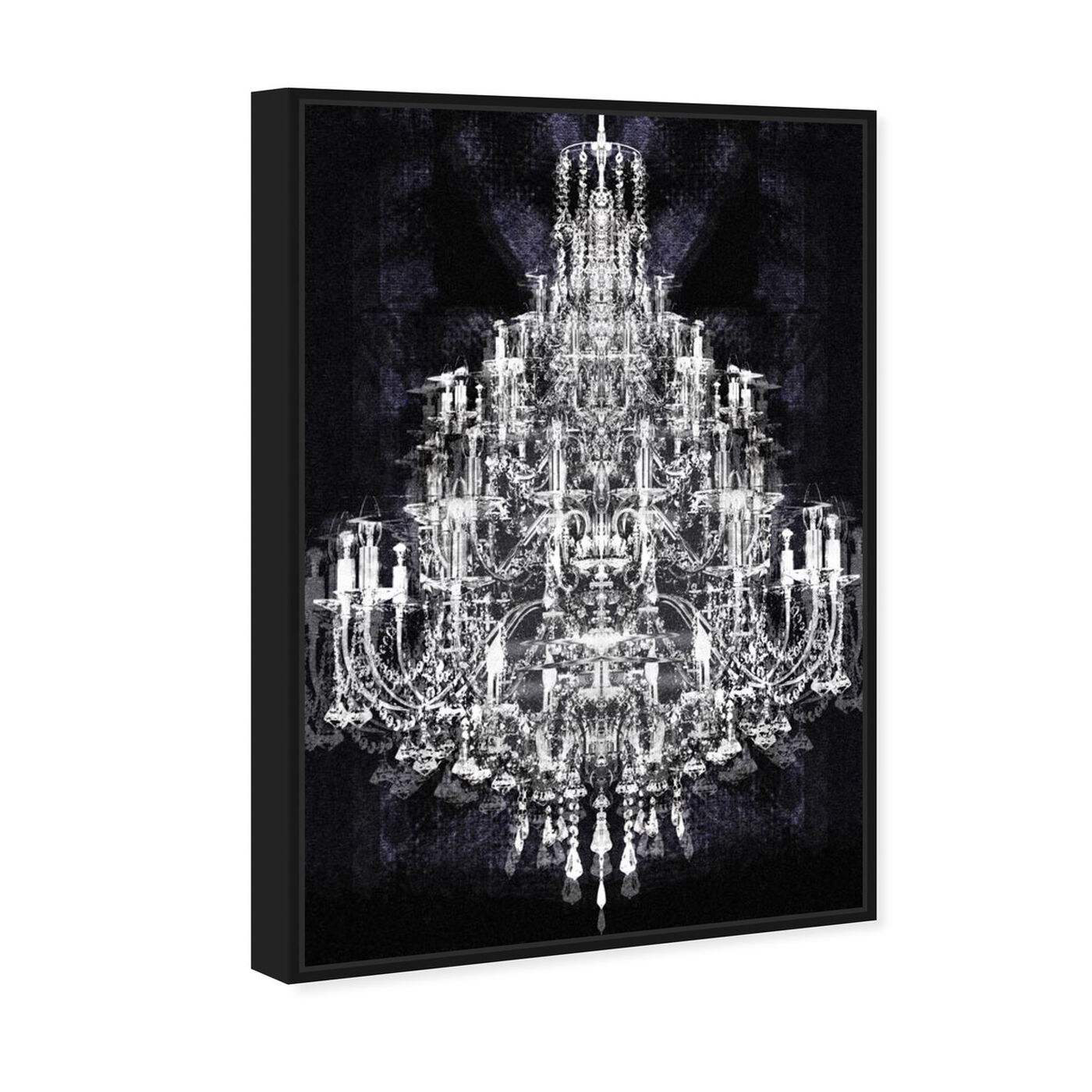 Angled view of Montecarlo Crystal featuring fashion and glam and chandeliers art.
