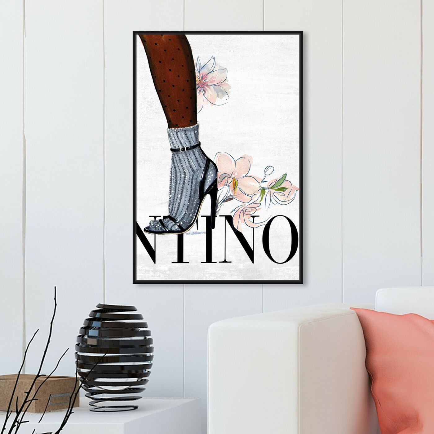 Hanging view of Walking Away II featuring fashion and glam and fashion lifestyle art.