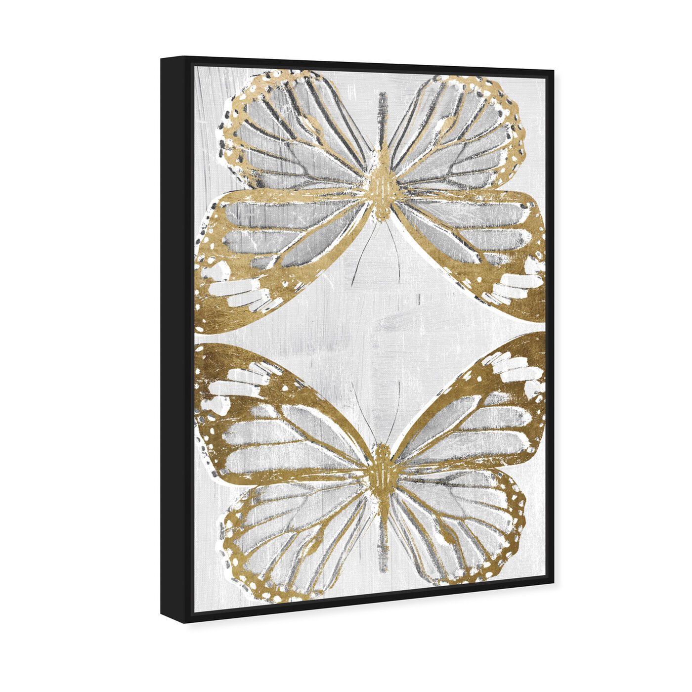 Angled view of Golden Butterflies featuring animals and insects art.