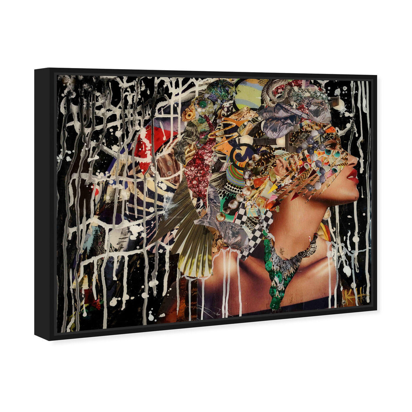 Angled view of Katy Hirschfeld - Tribal and Wild featuring fashion and glam and portraits art.