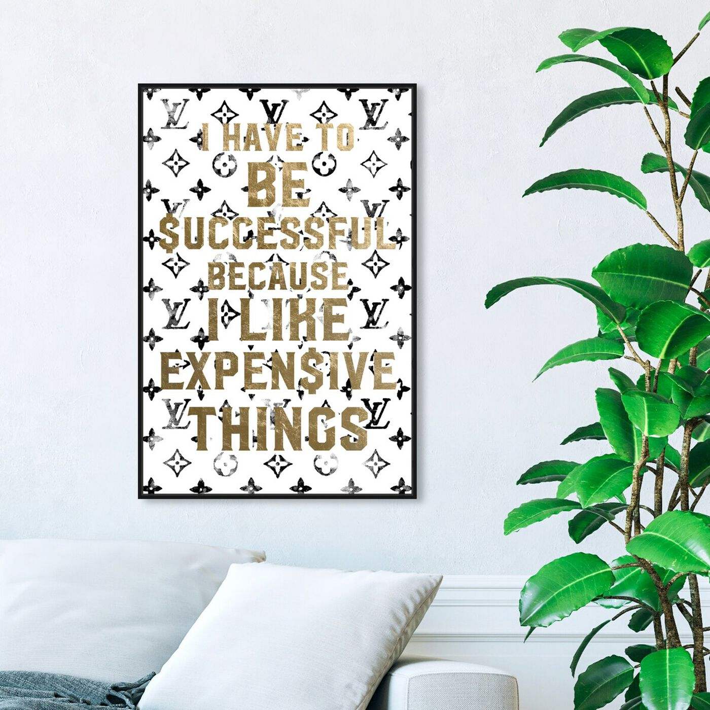 Hanging view of No Other Way featuring typography and quotes and fashion quotes and sayings art.