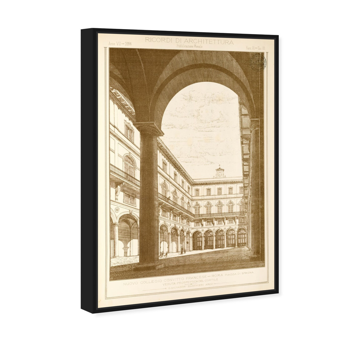 Angled view of Roma Piazza di Spacna - The Art Cabinet featuring architecture and buildings and structures art.