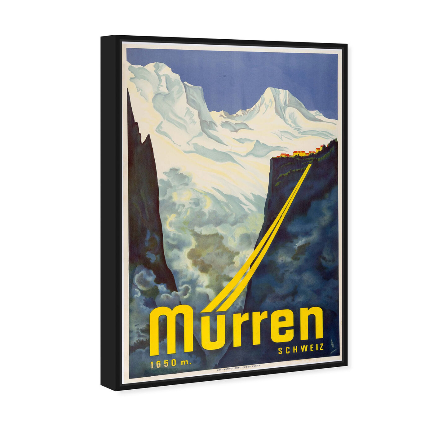 Angled view of Murren Ski featuring advertising and posters art.