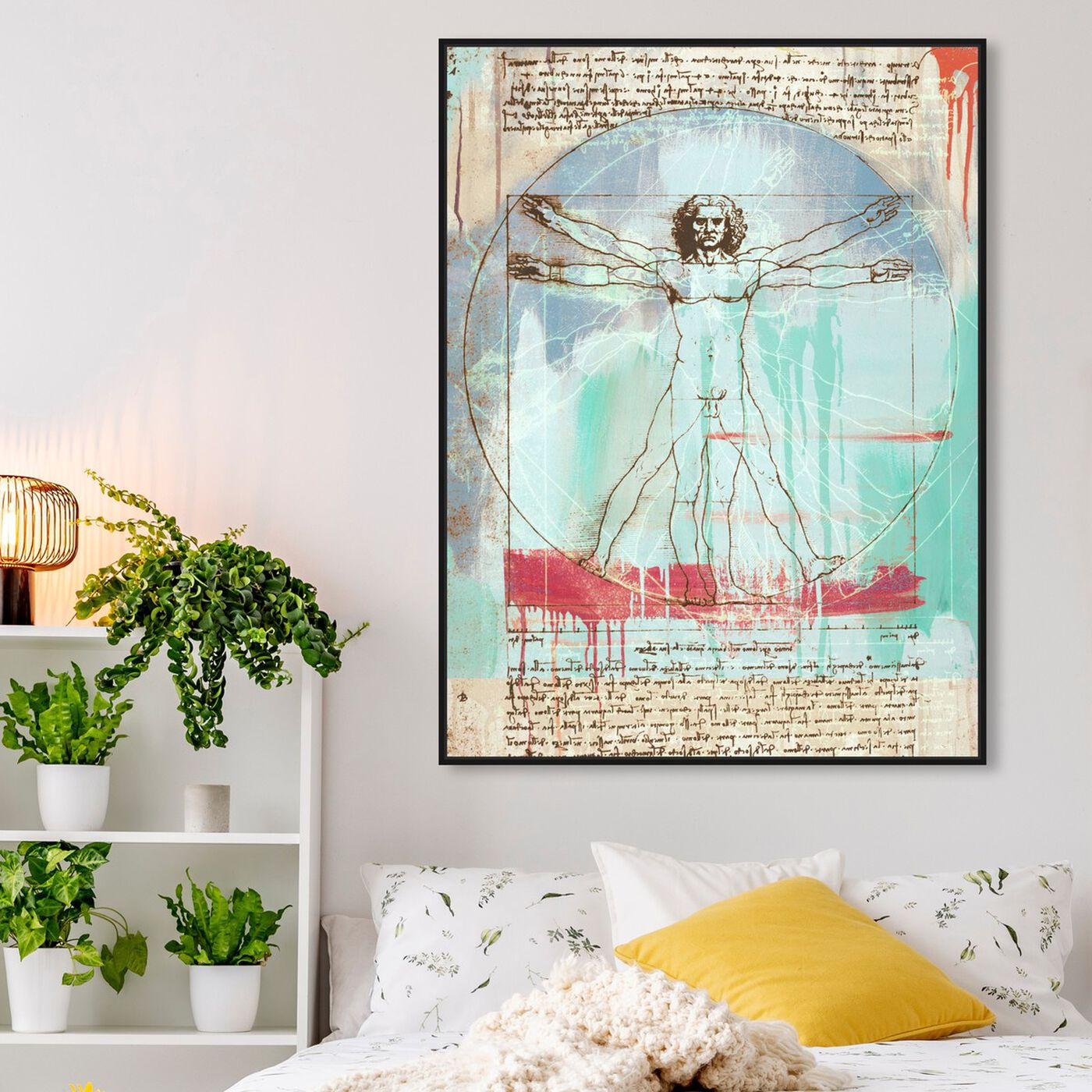 Hanging view of Sai - Vitruvian Man 3EH2821 featuring education and office and scientist art.