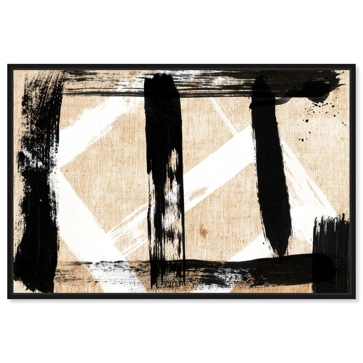 Front view of Five Vix featuring abstract and paint art.