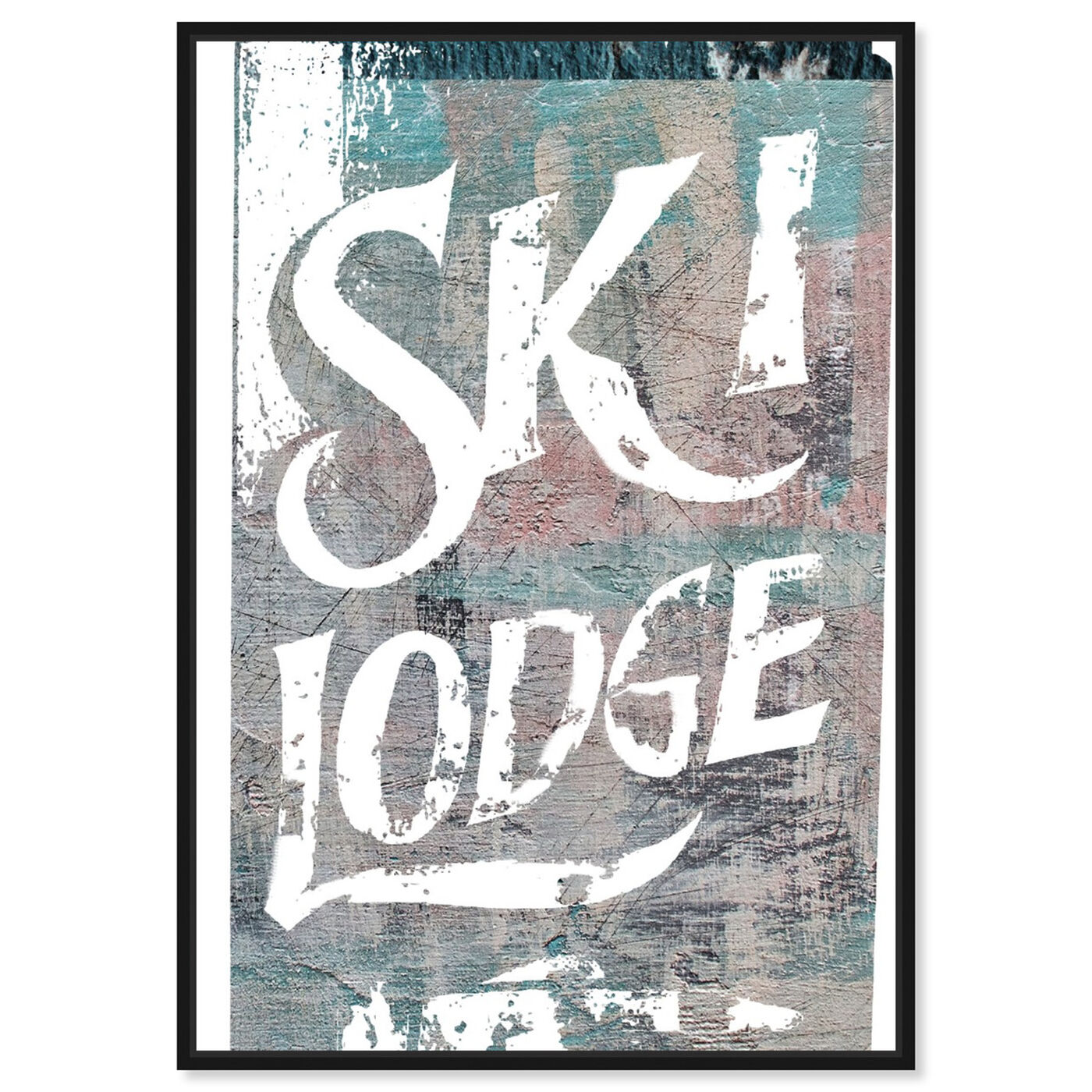 Front view of Ski Lodge featuring sports and teams and skiing art.