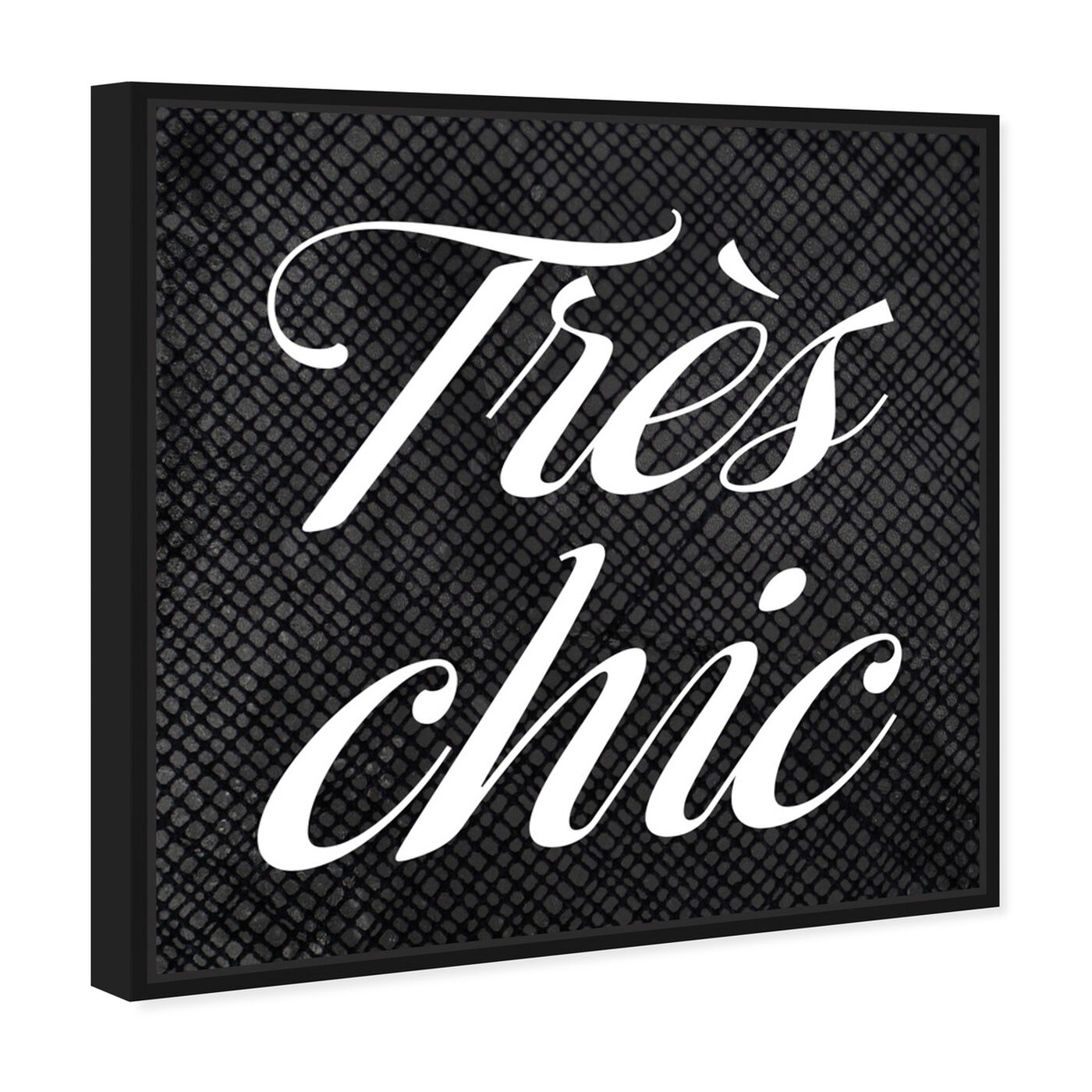 Angled view of Tres Chic featuring typography and quotes and beauty quotes and sayings art.