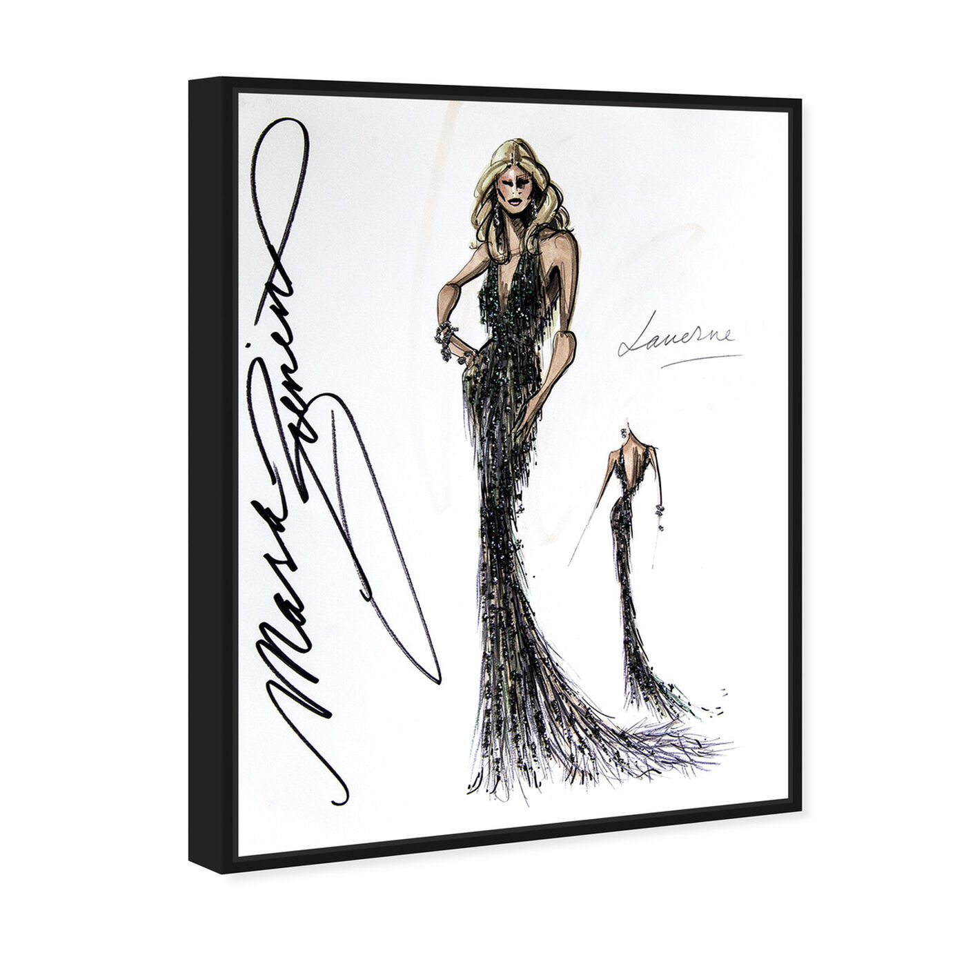 Angled view of Mark Zunino - Laverne featuring fashion and glam and dress art.