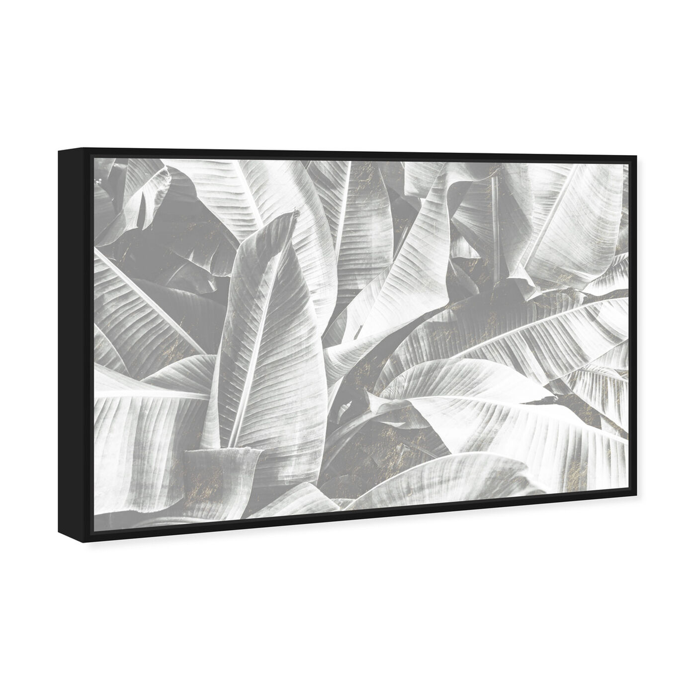 Angled view of Banana Leaf Light featuring floral and botanical and botanicals art.