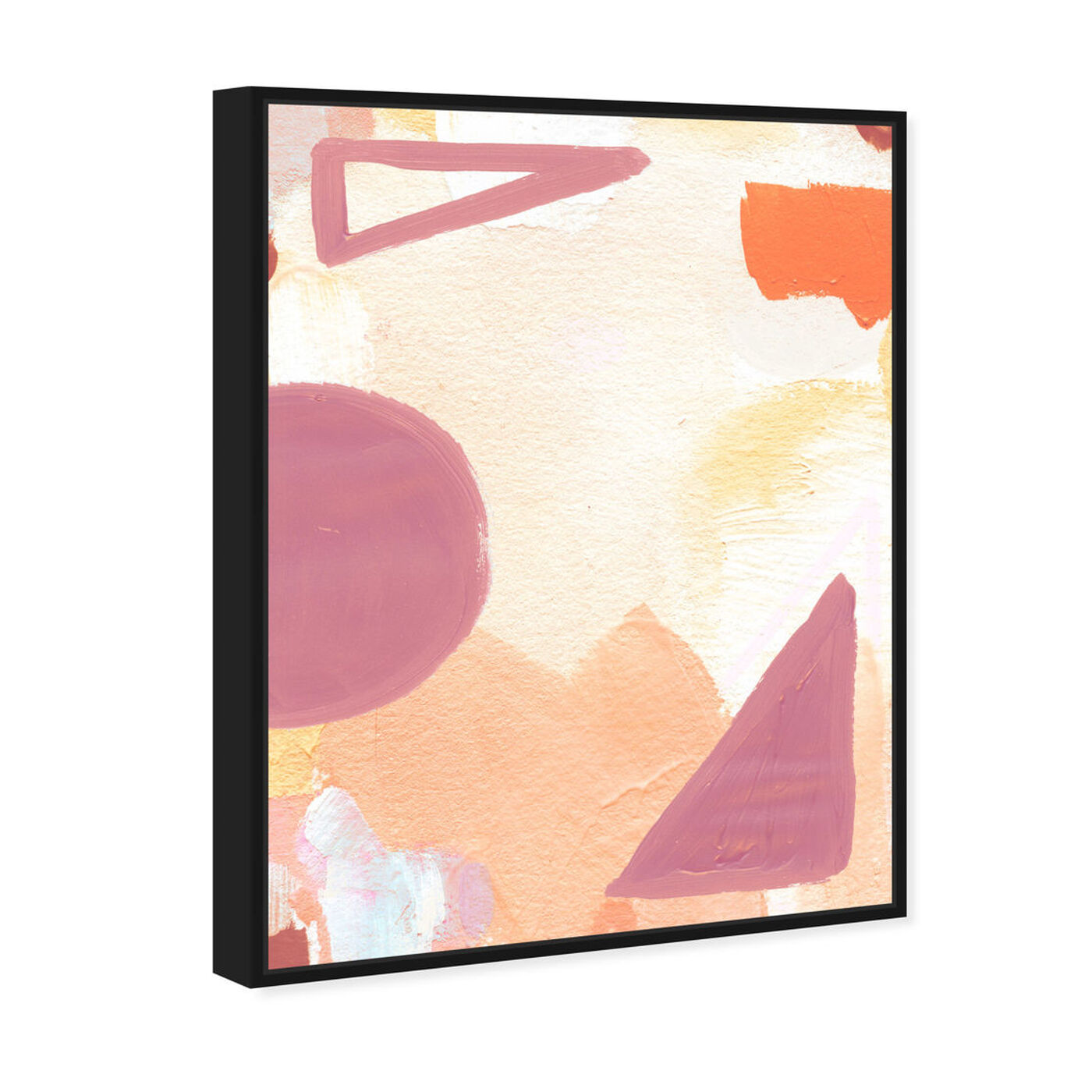 Angled view of Surreal Poetic featuring abstract and geometric art.