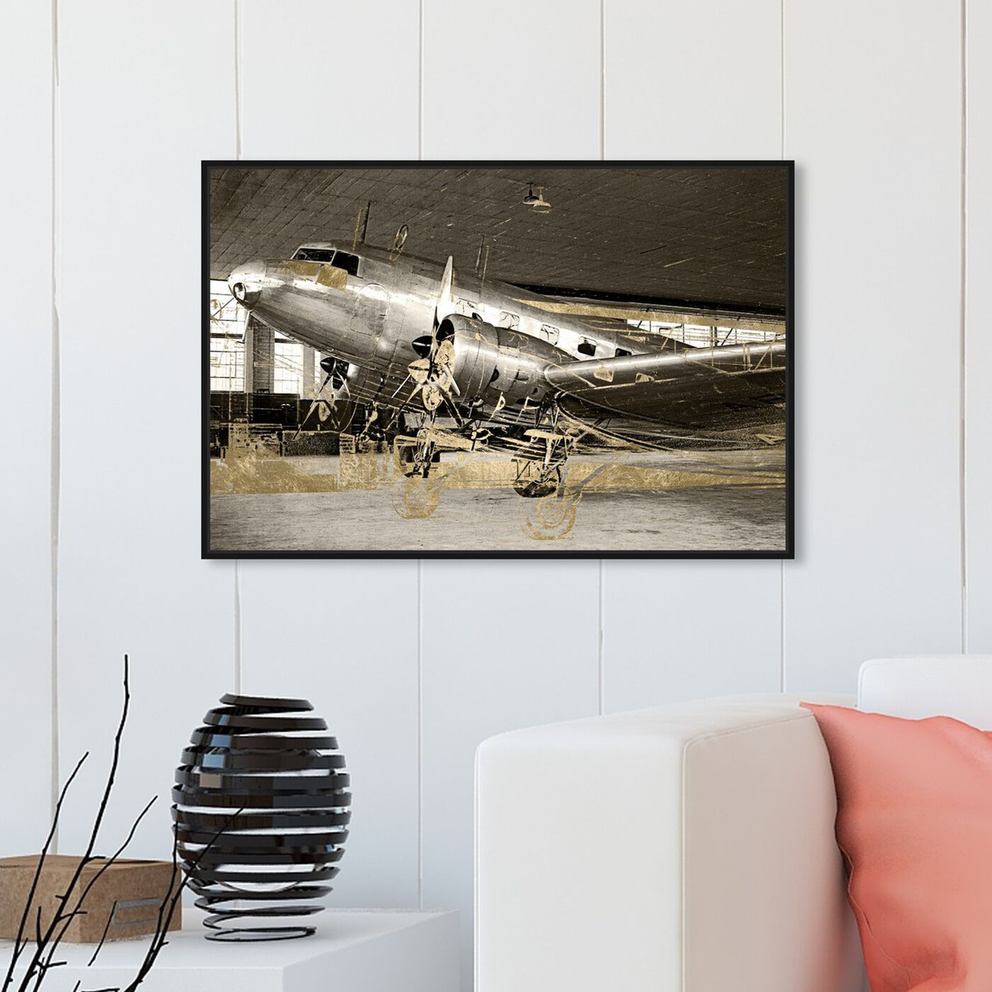 Hanging view of Aviation featuring transportation and airplanes art.