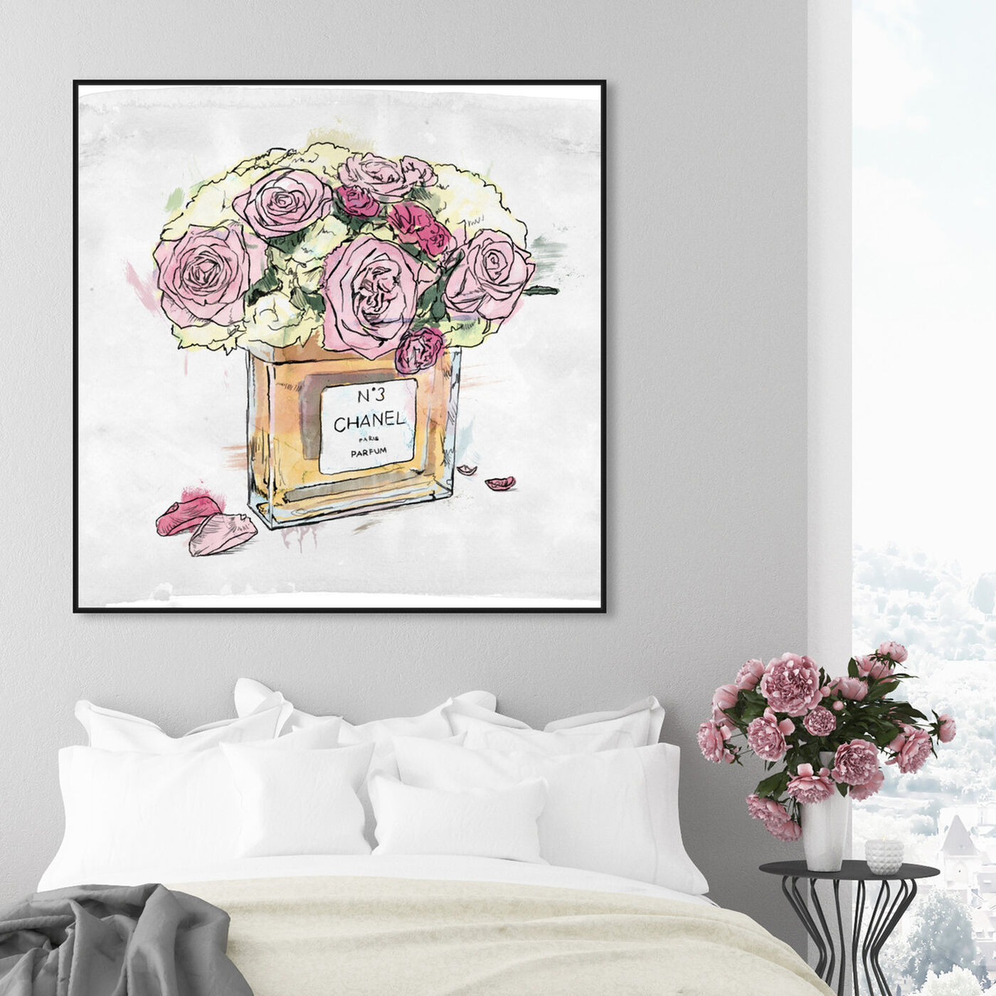 Hanging view of Flower Vase  featuring fashion and glam and perfumes art.