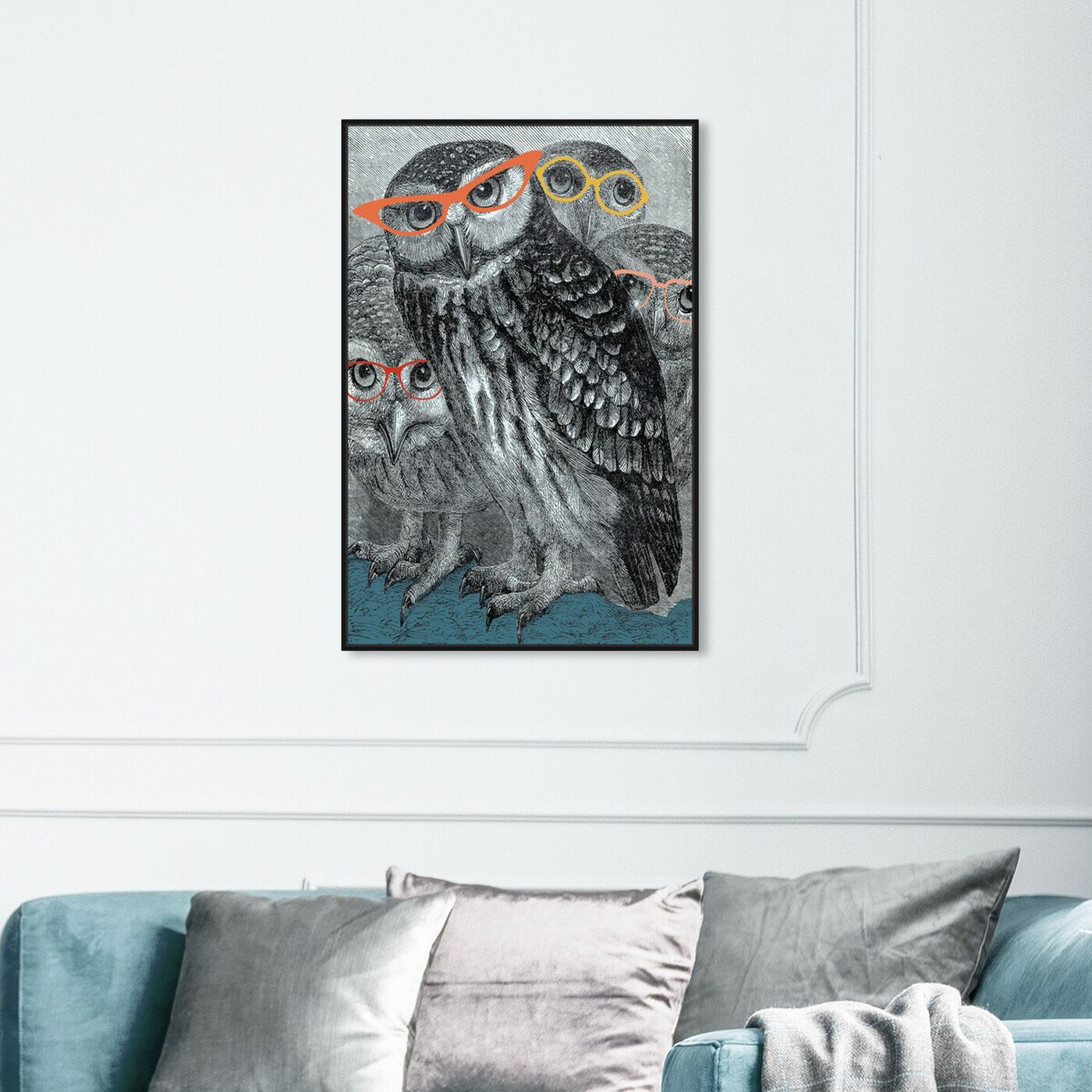 Hanging view of All Eyes On Us featuring animals and birds art.