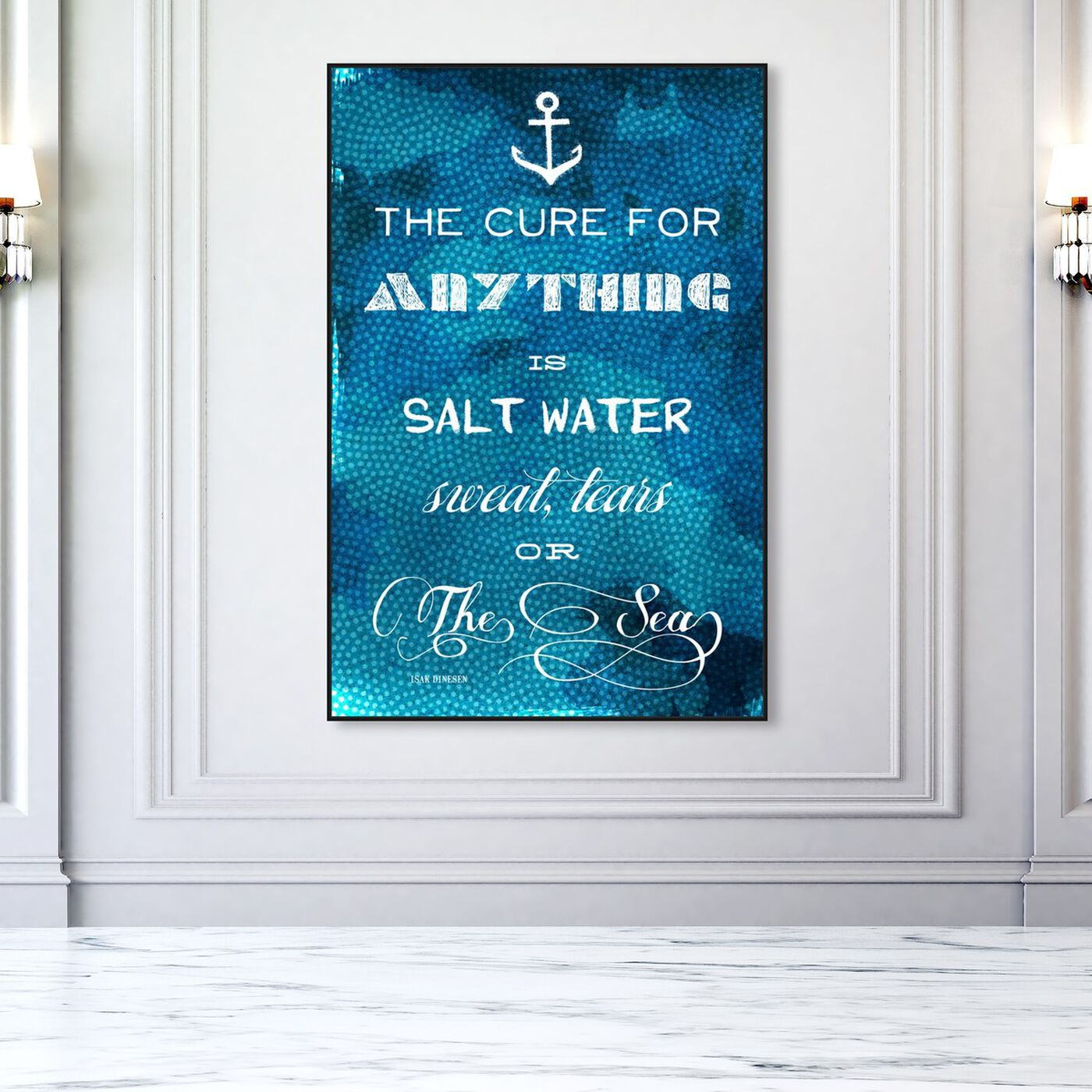 Hanging view of The Cure Quote featuring nautical and coastal and coastal art.
