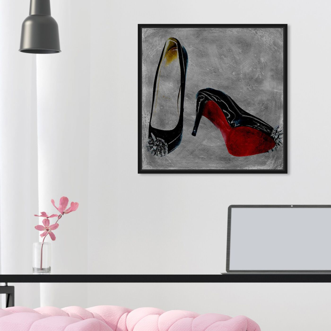 Hanging view of Get A Kick Out Of It featuring fashion and glam and shoes art.