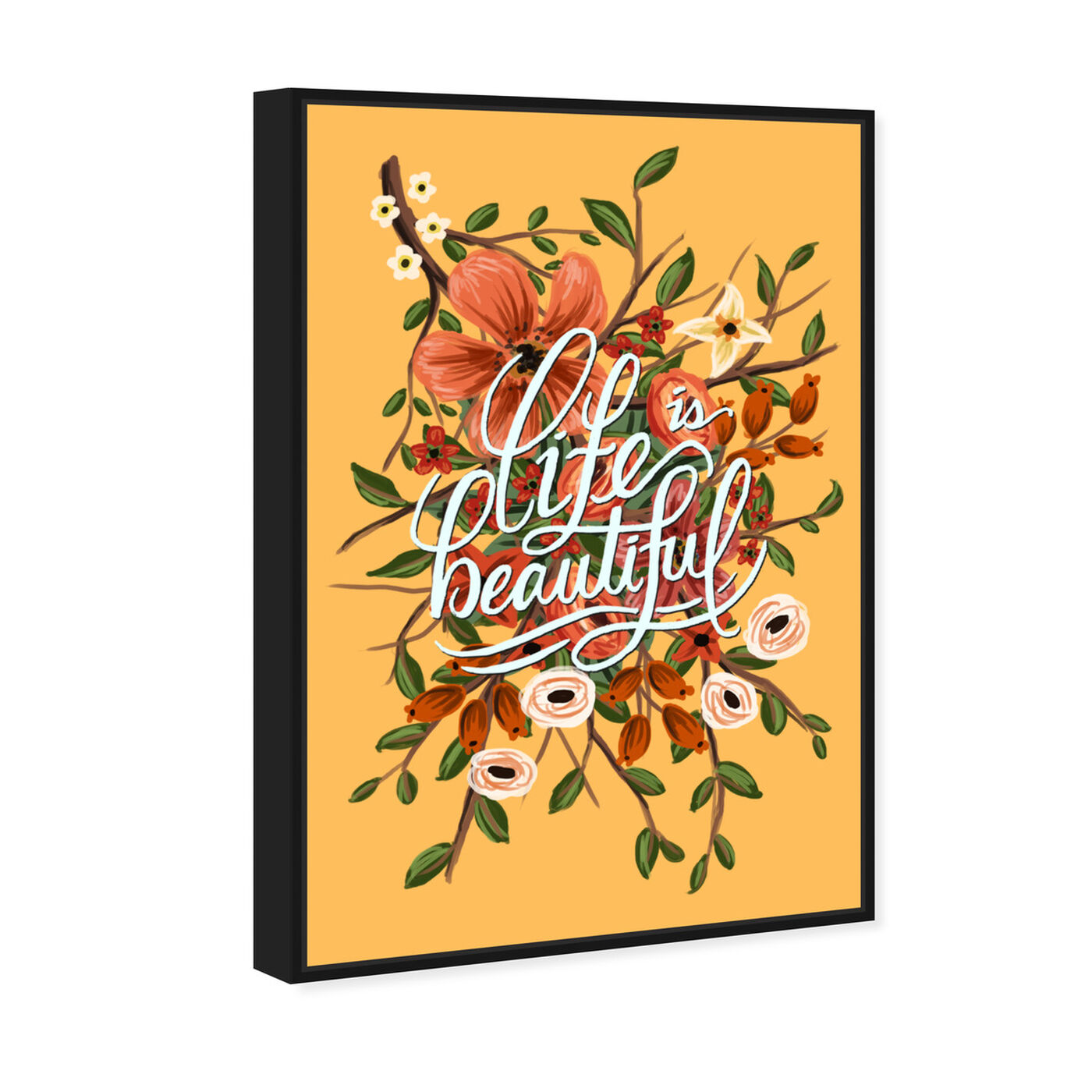 Angled view of Yellow Beautiful featuring typography and quotes and inspirational quotes and sayings art.