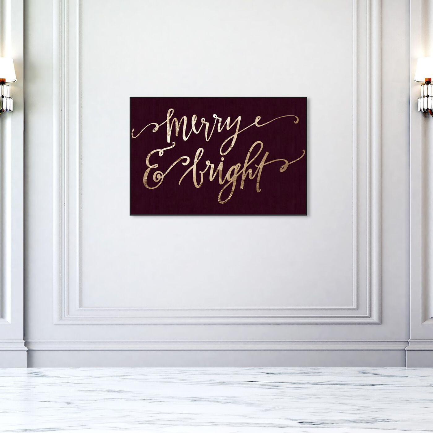 Hanging view of Merry and Bright Plum featuring holiday and seasonal and holidays art.