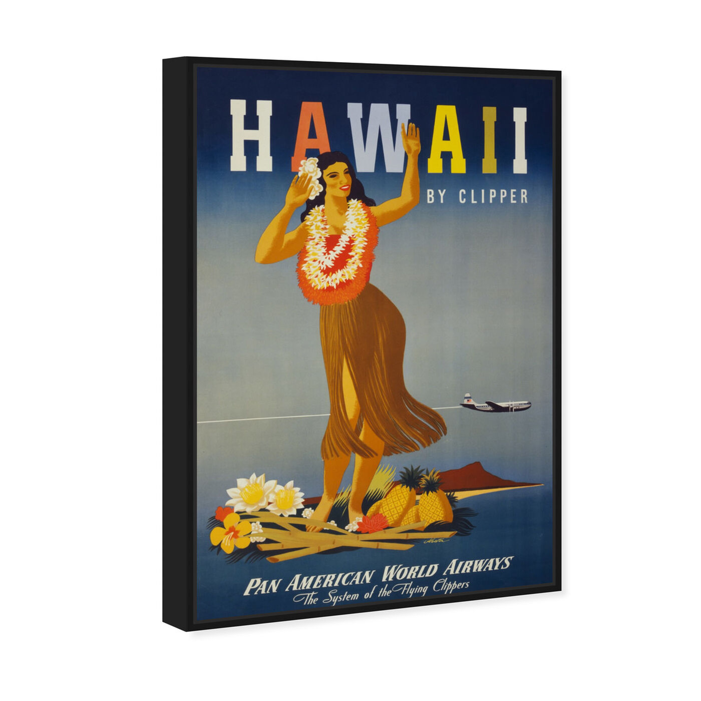 Angled view of Hawaii featuring cities and skylines and united states cities art.