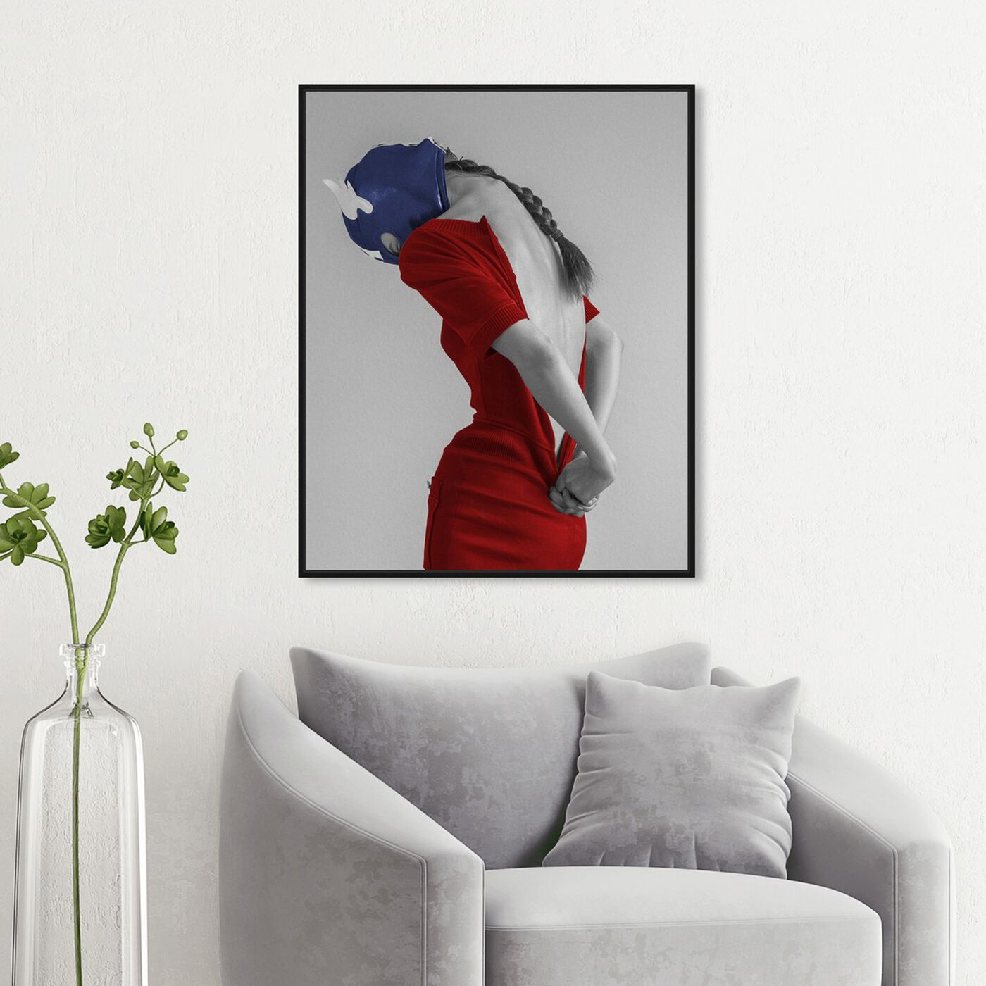 Hanging view of Ekaterina Juskowski - Dressed to Conquer featuring people and portraits and silhouettes art.
