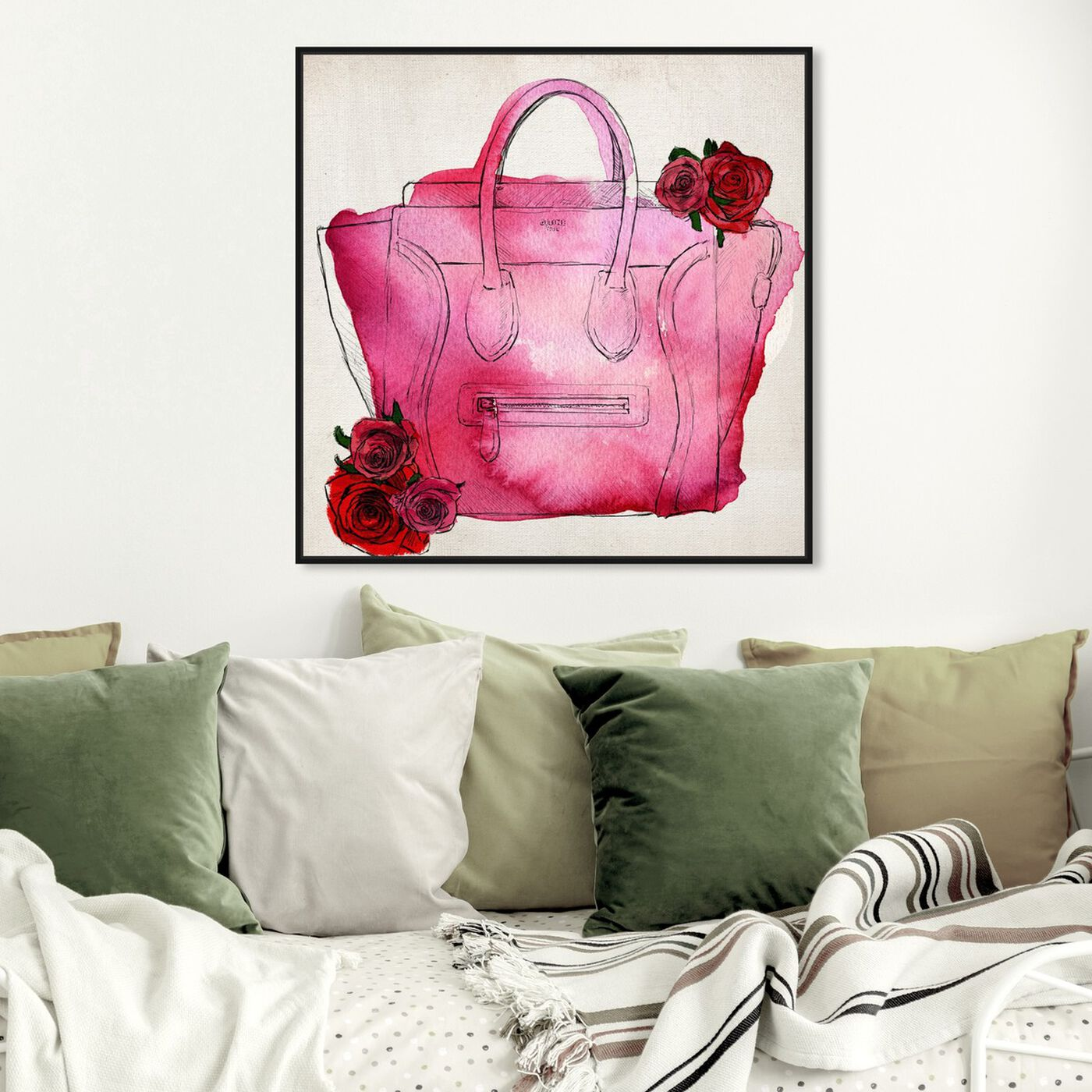 Hanging view of Spoil Me Please! featuring fashion and glam and handbags art.