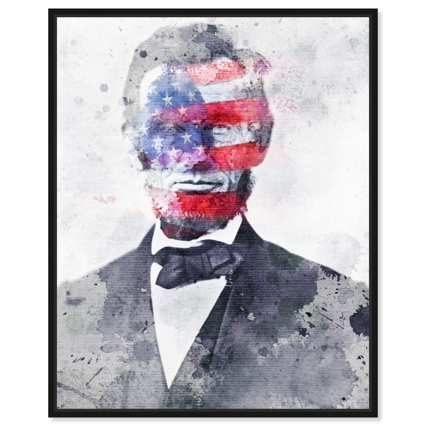 Front view of Lincoln For America featuring americana and patriotic and us presidents art.