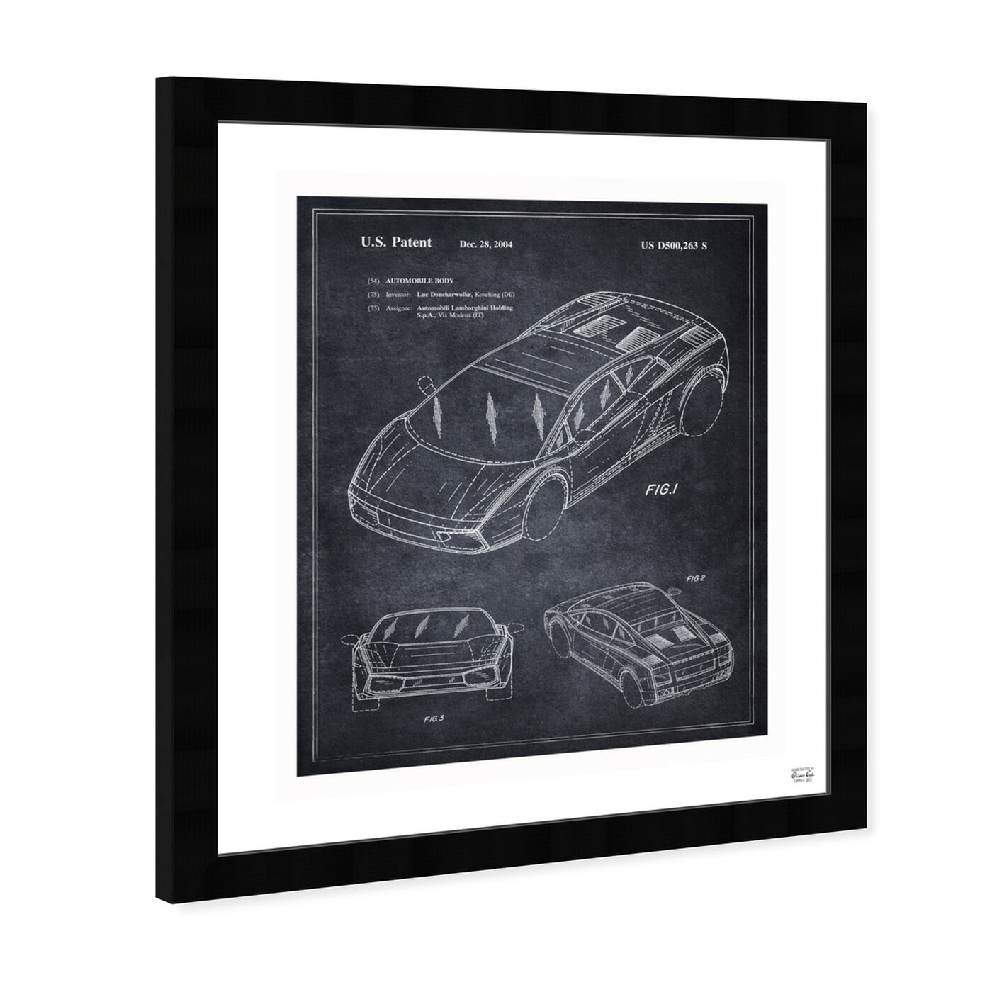 Angled view of Lamborghini Gallardo 2004 featuring transportation and automobiles art.