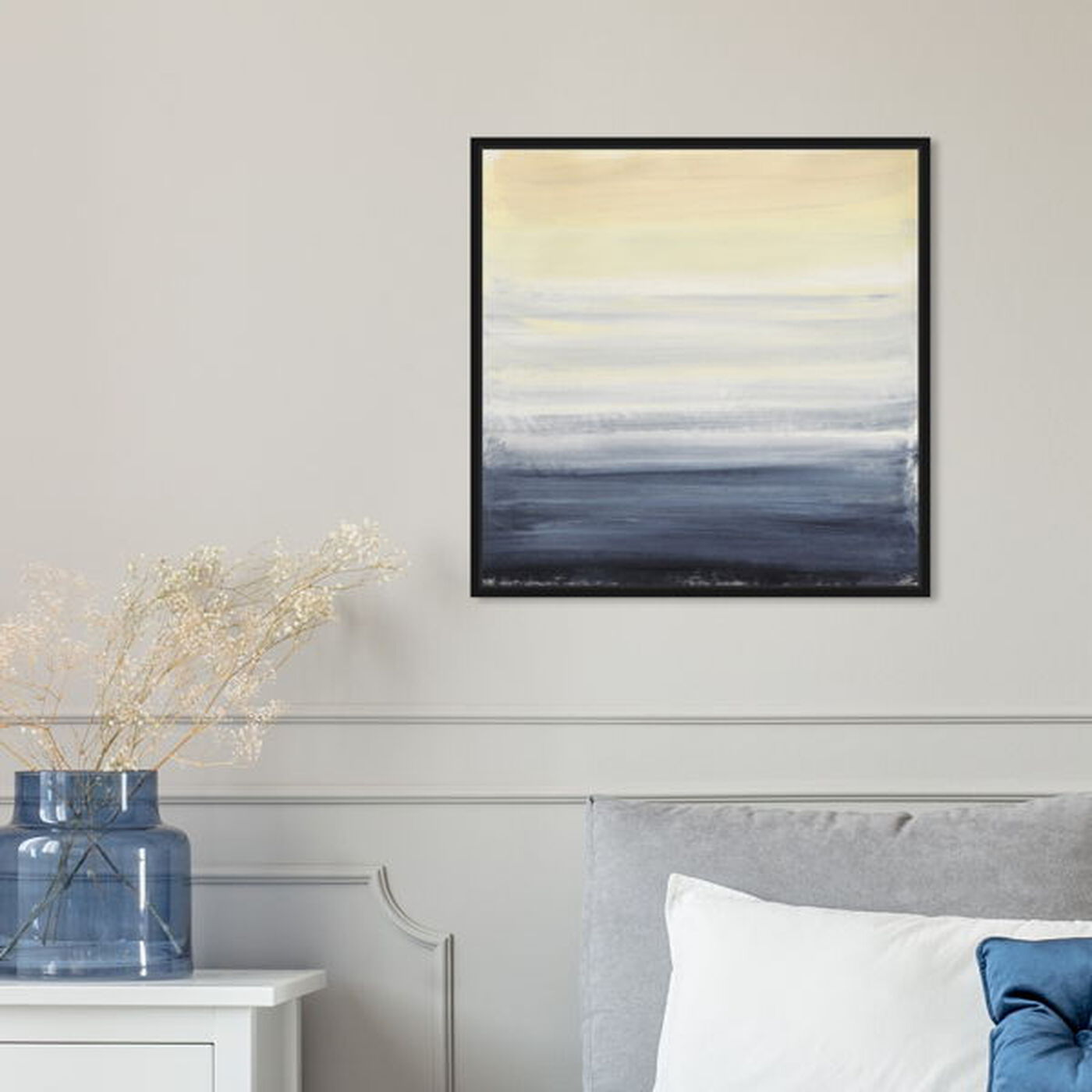 Hanging view of Sea Fog featuring abstract and paint art.