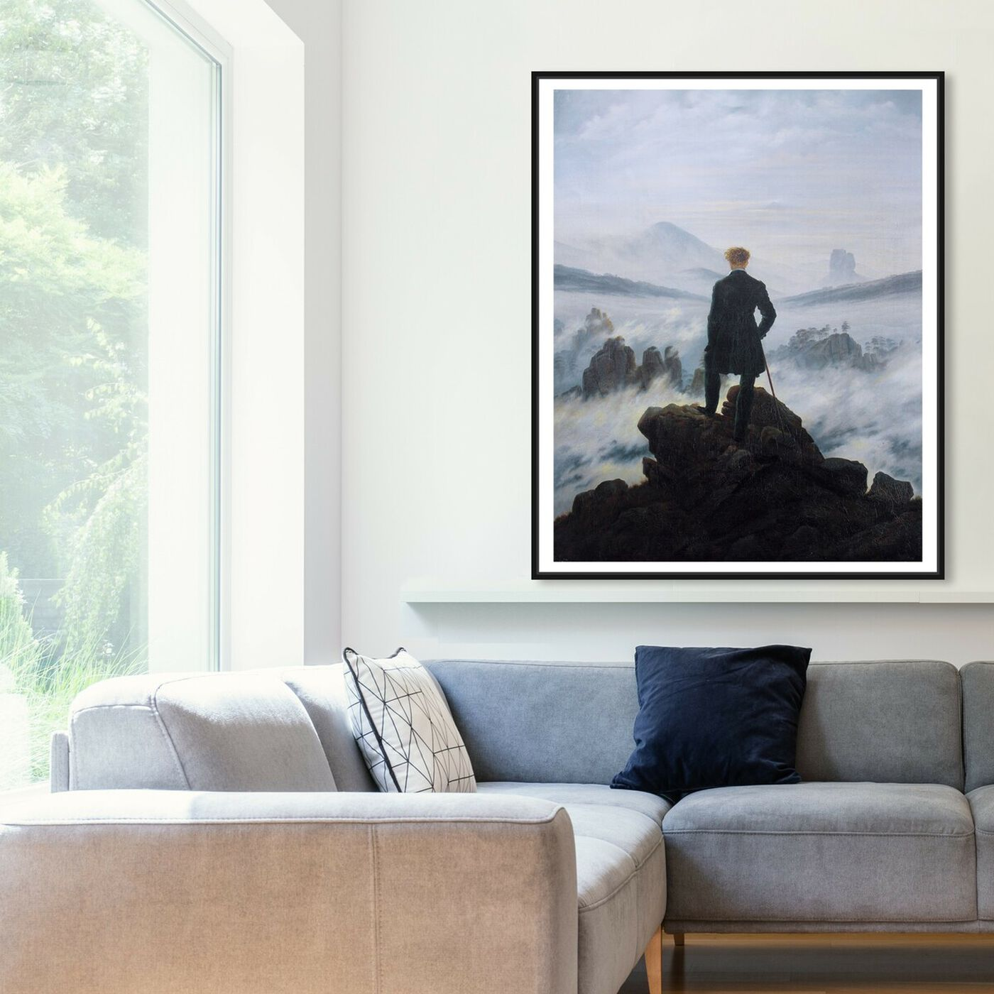 Hanging view of Friedrich - The Wanderer featuring classic and figurative and classical figures art.