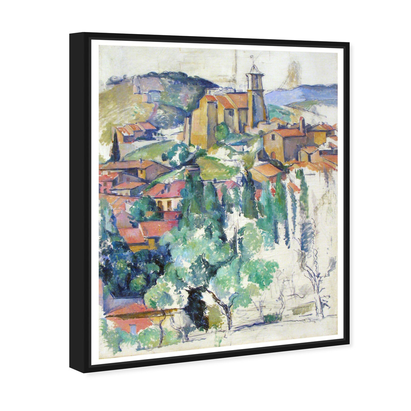 Angled view of Cezanne - Village At Gardanne featuring classic and figurative and classic art.
