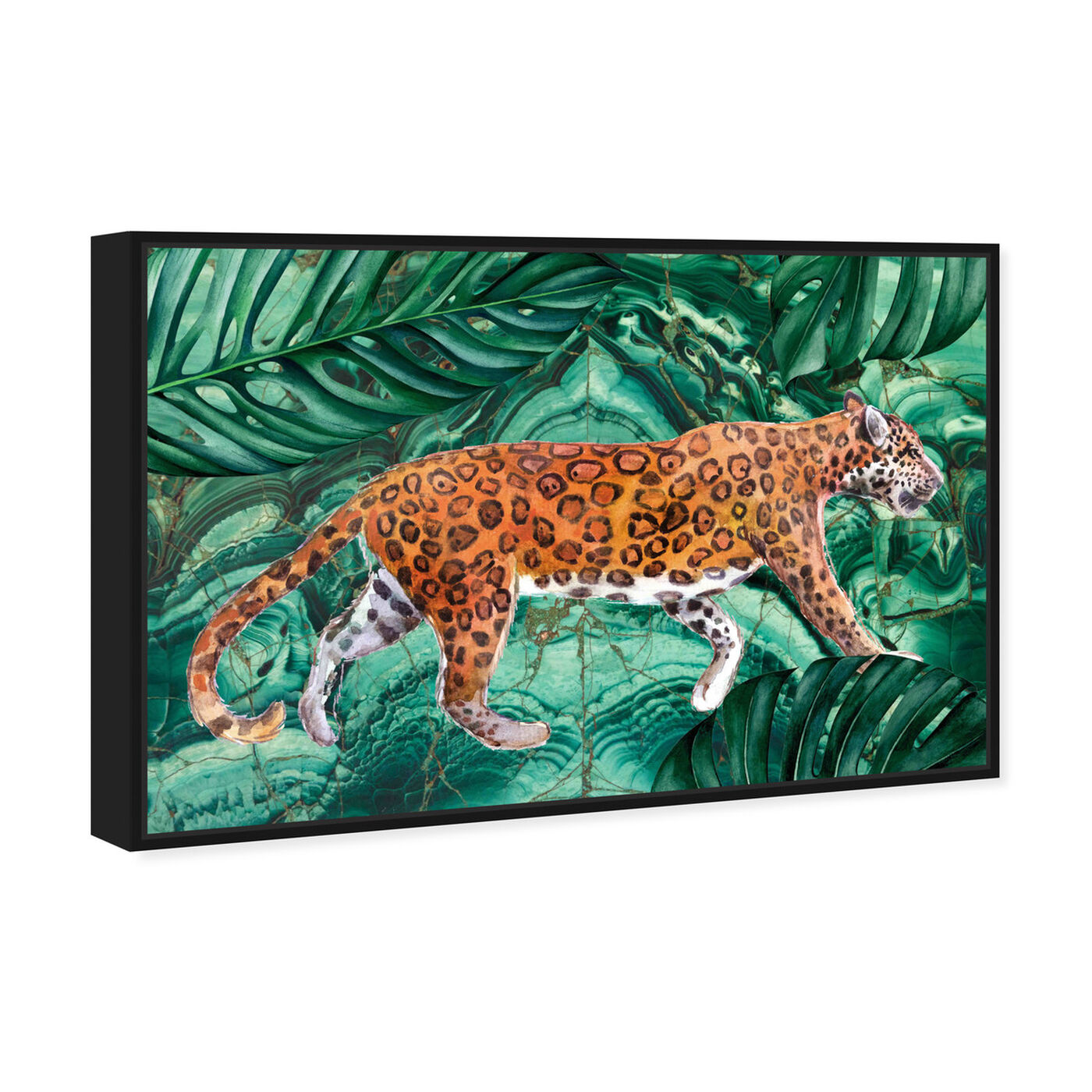 Angled view of Cougar Jungle featuring animals and felines art.