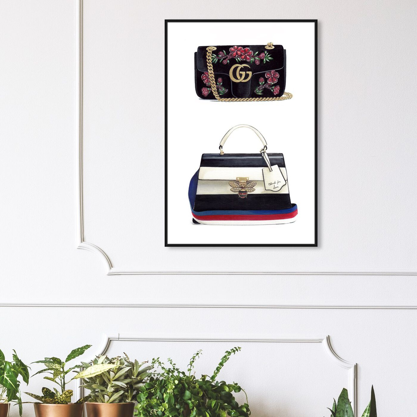 Hanging view of Doll Memories - New Collection featuring fashion and glam and handbags art.