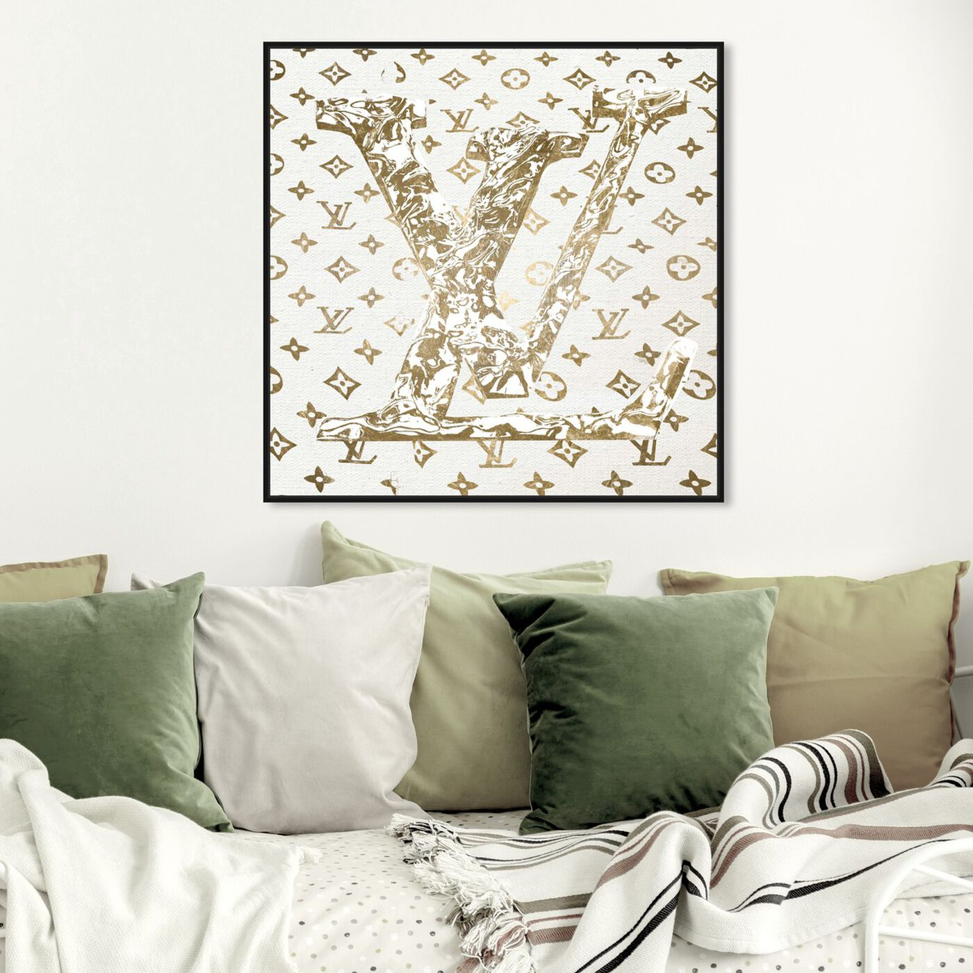 Hanging view of Paris Statement In Style featuring fashion and glam and road signs art.