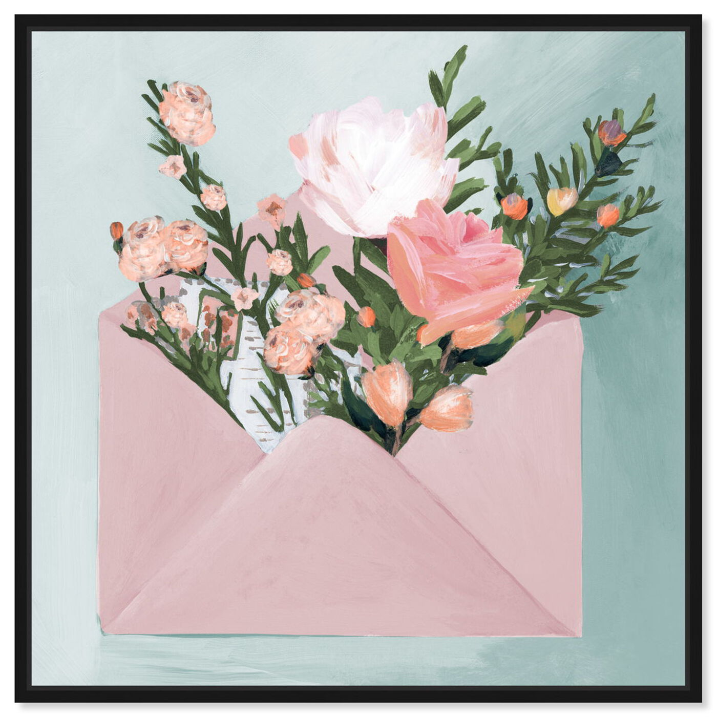 Front view of Pastel Flower Mail featuring floral and botanical and florals art.