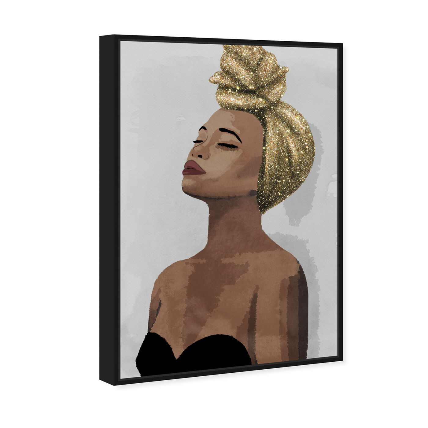 Angled view of Golden Spirit featuring fashion and glam and portraits art.