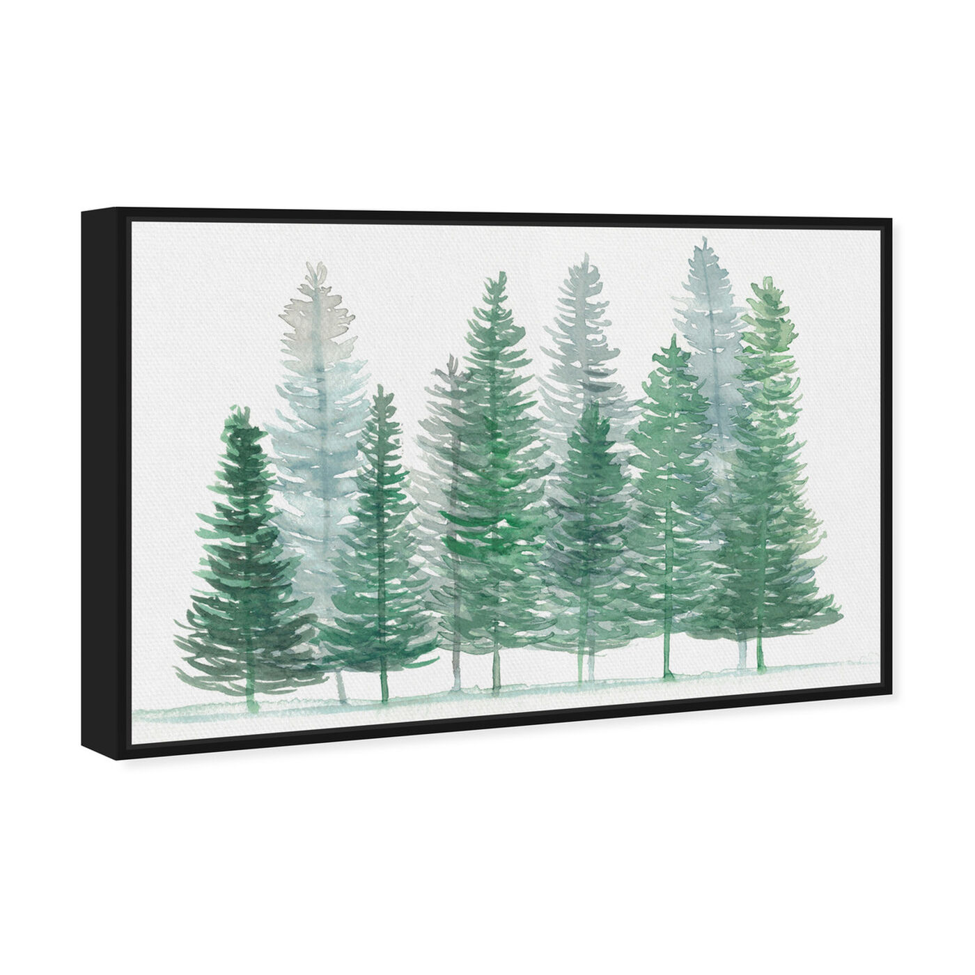 Angled view of Forest Pine featuring nature and landscape and forest landscapes art.