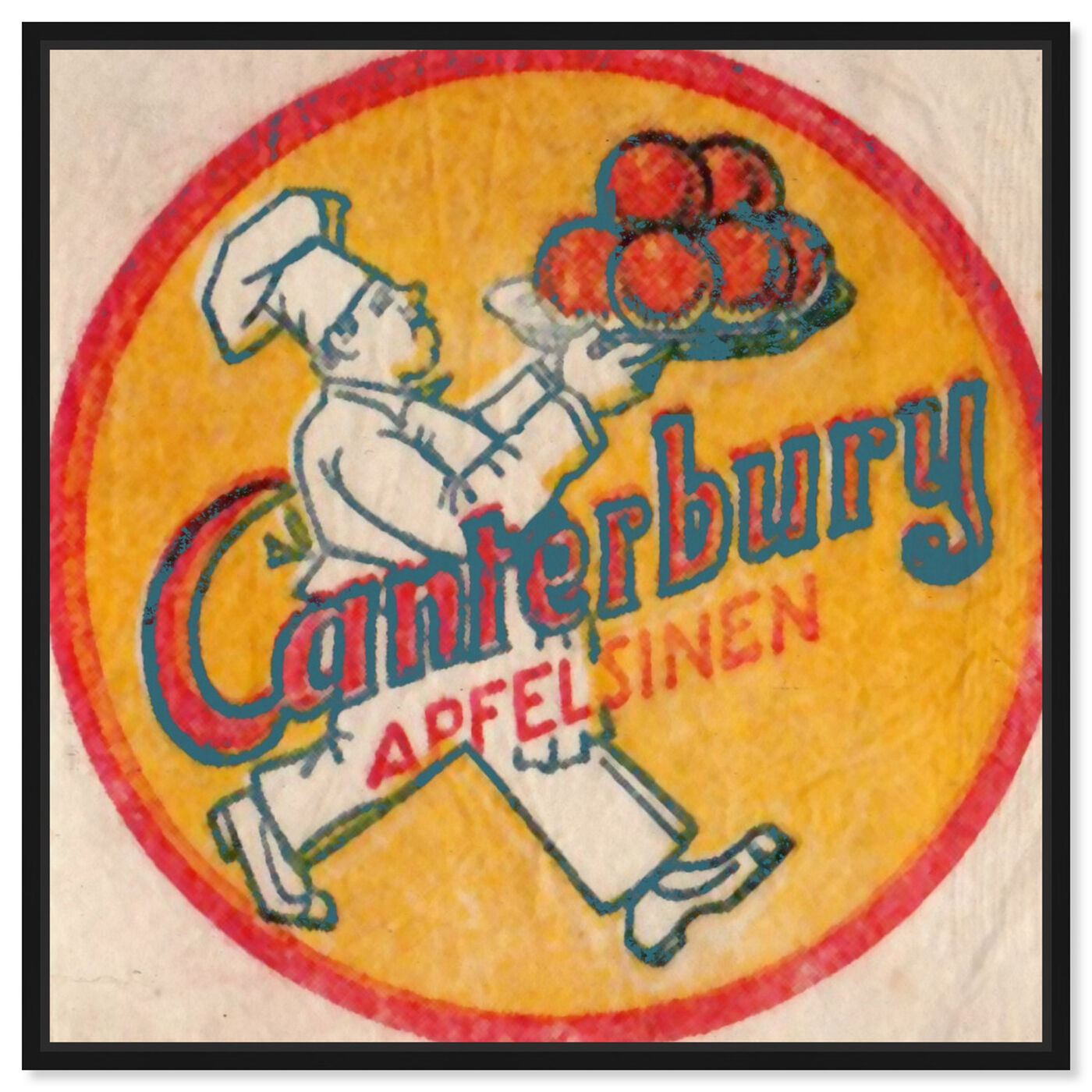 Front view of Canterbury Apples featuring food and cuisine and fruits art.