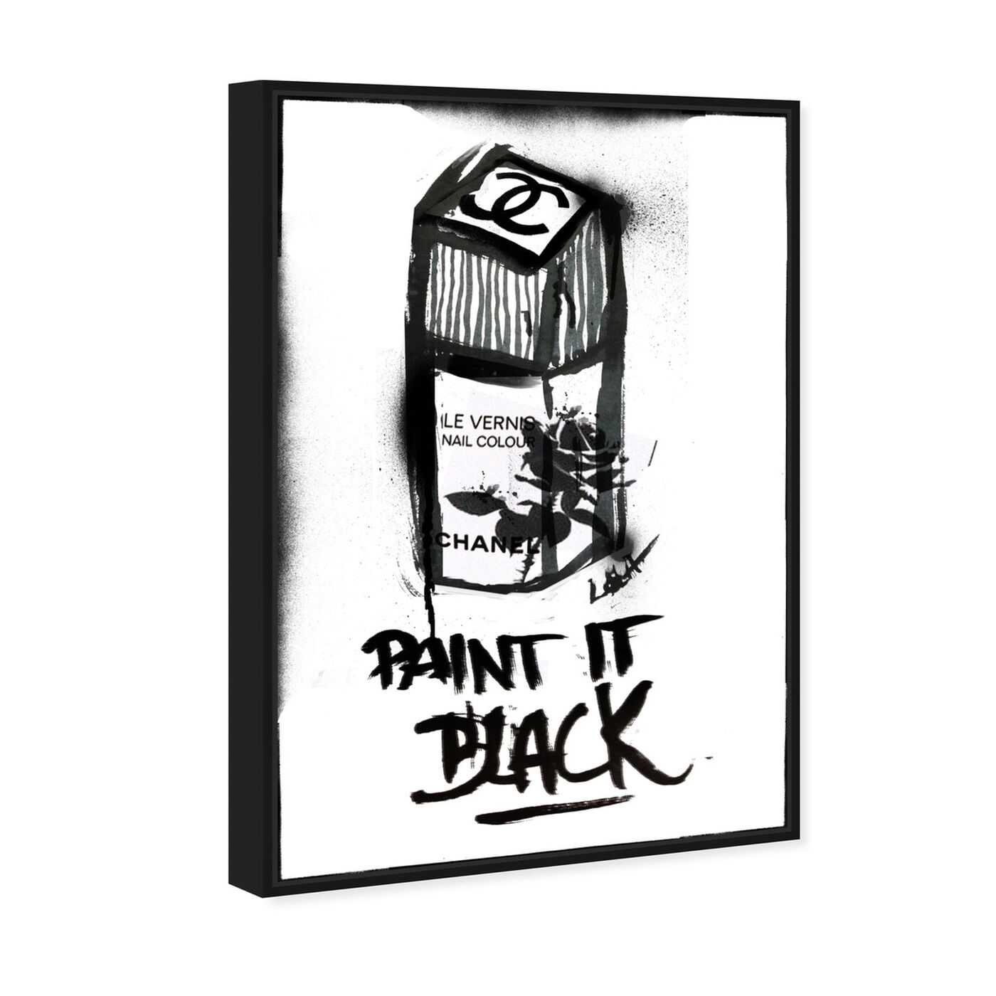 Angled view of Paint it Black featuring fashion and glam and nail polish art.