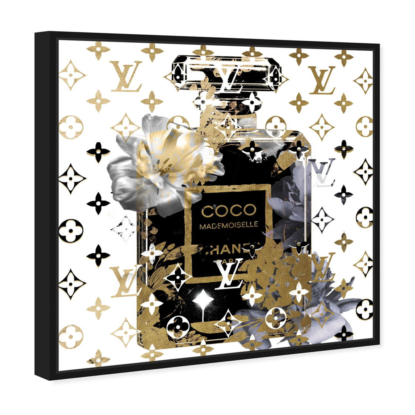 Angled view of Coco Blinded Love Blue featuring fashion and glam and perfumes art.